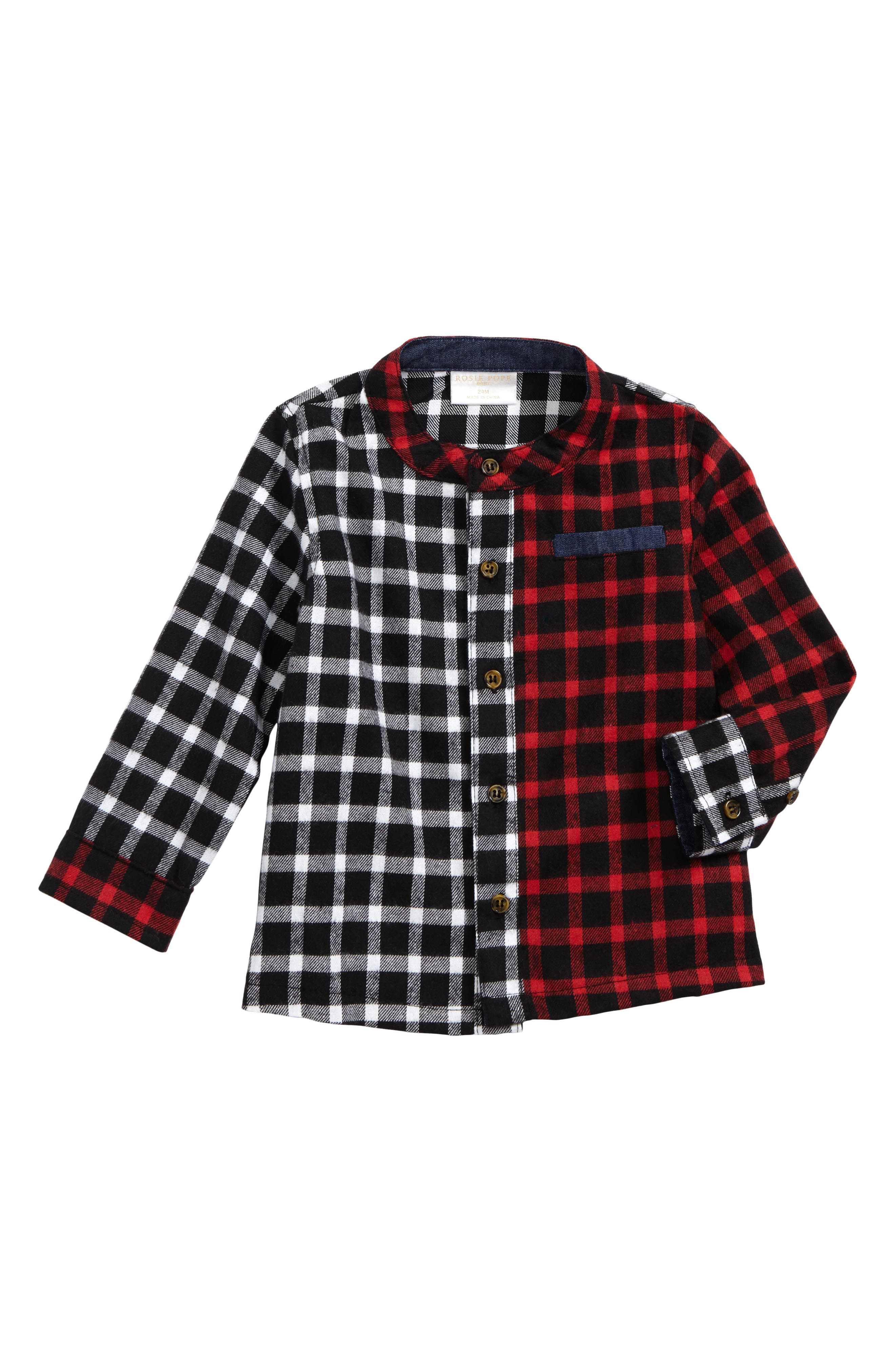 Rosie Pope Plaid Woven Shirt (Baby Boys)