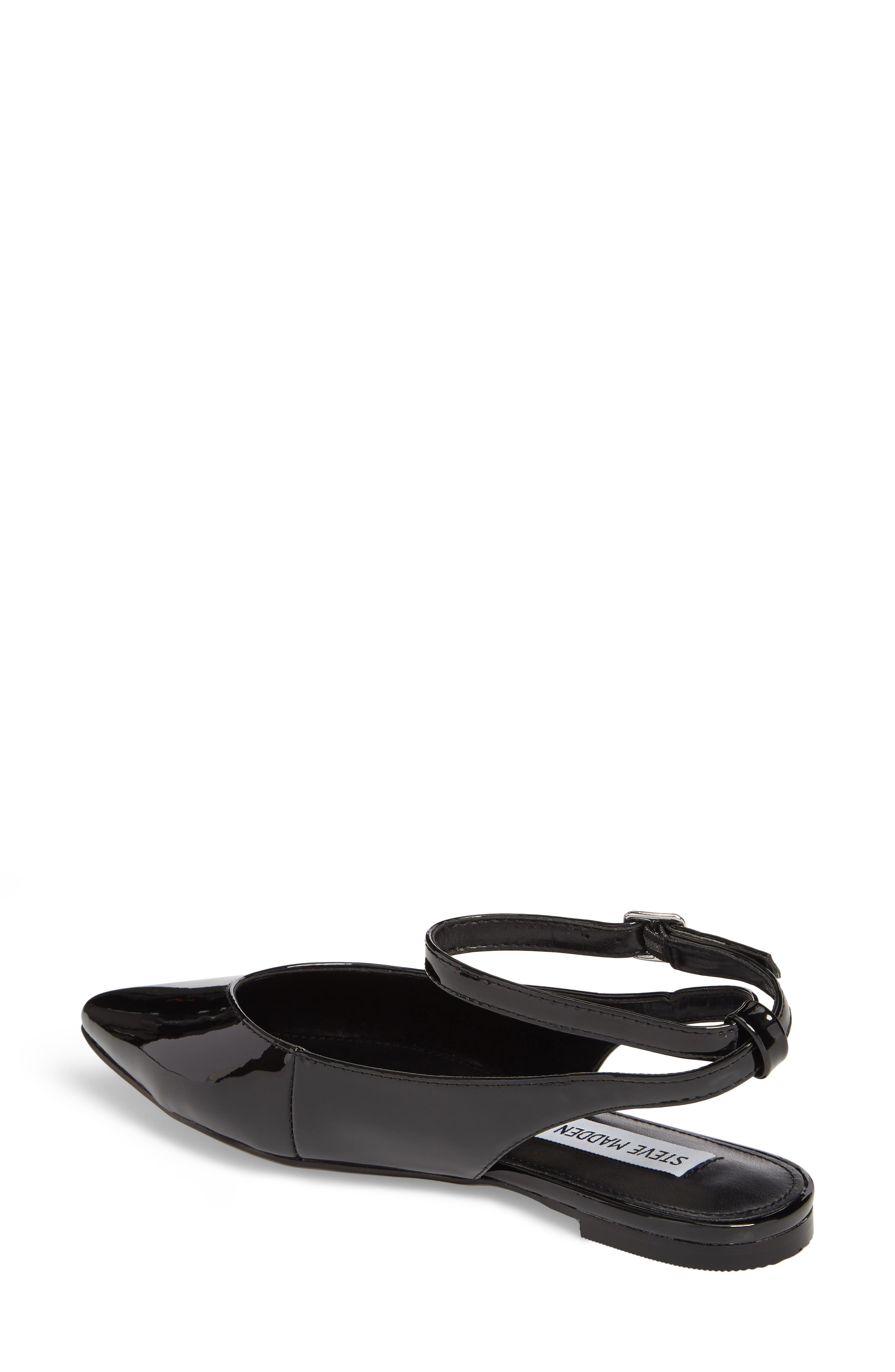 Cupid Ankle Strap Flat,                             Alternate thumbnail 2, color,                             Black Patent Leather