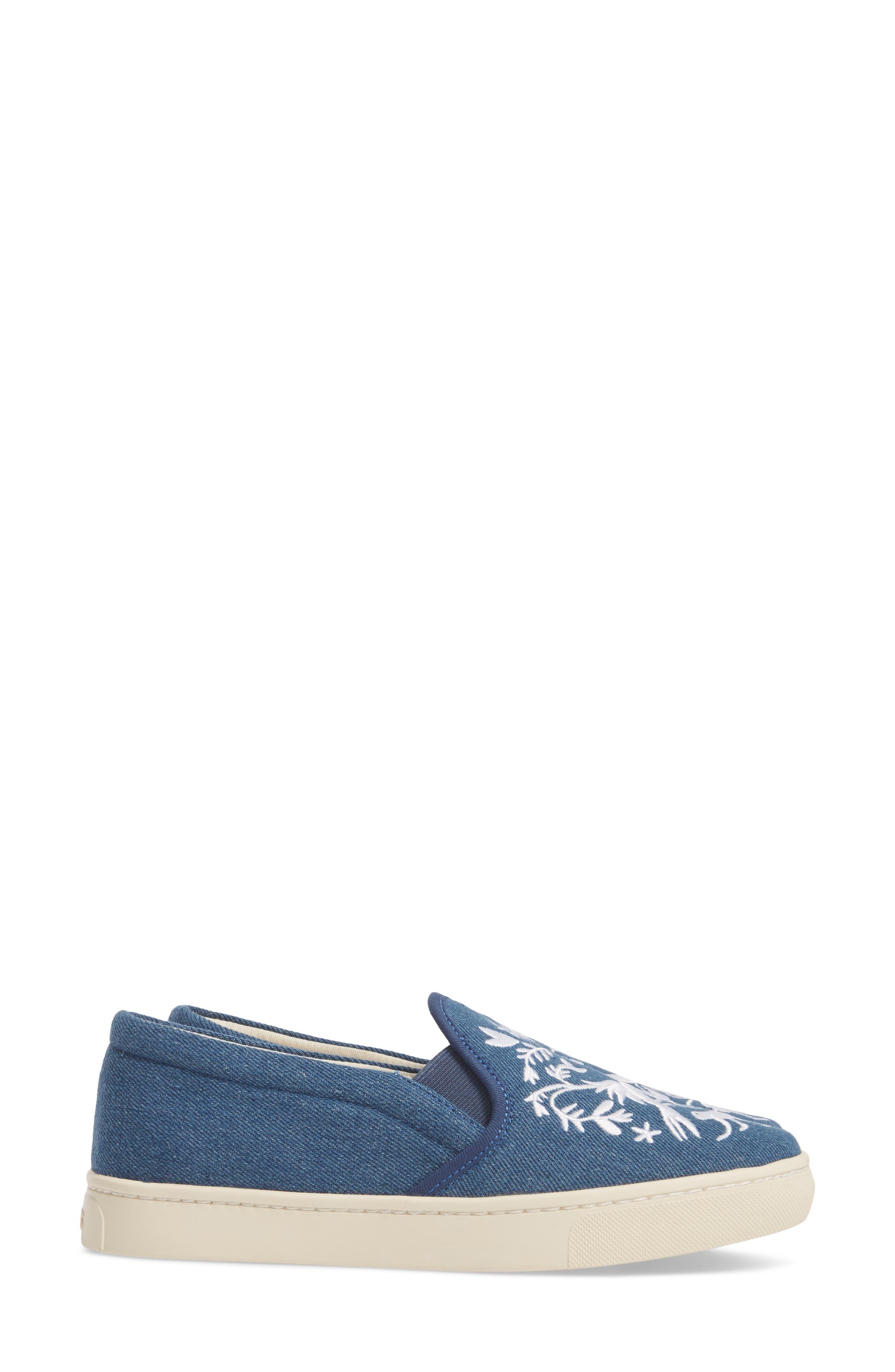 Otomi Slip-On Sneaker,                             Alternate thumbnail 4, color,                             Denim Fabric
