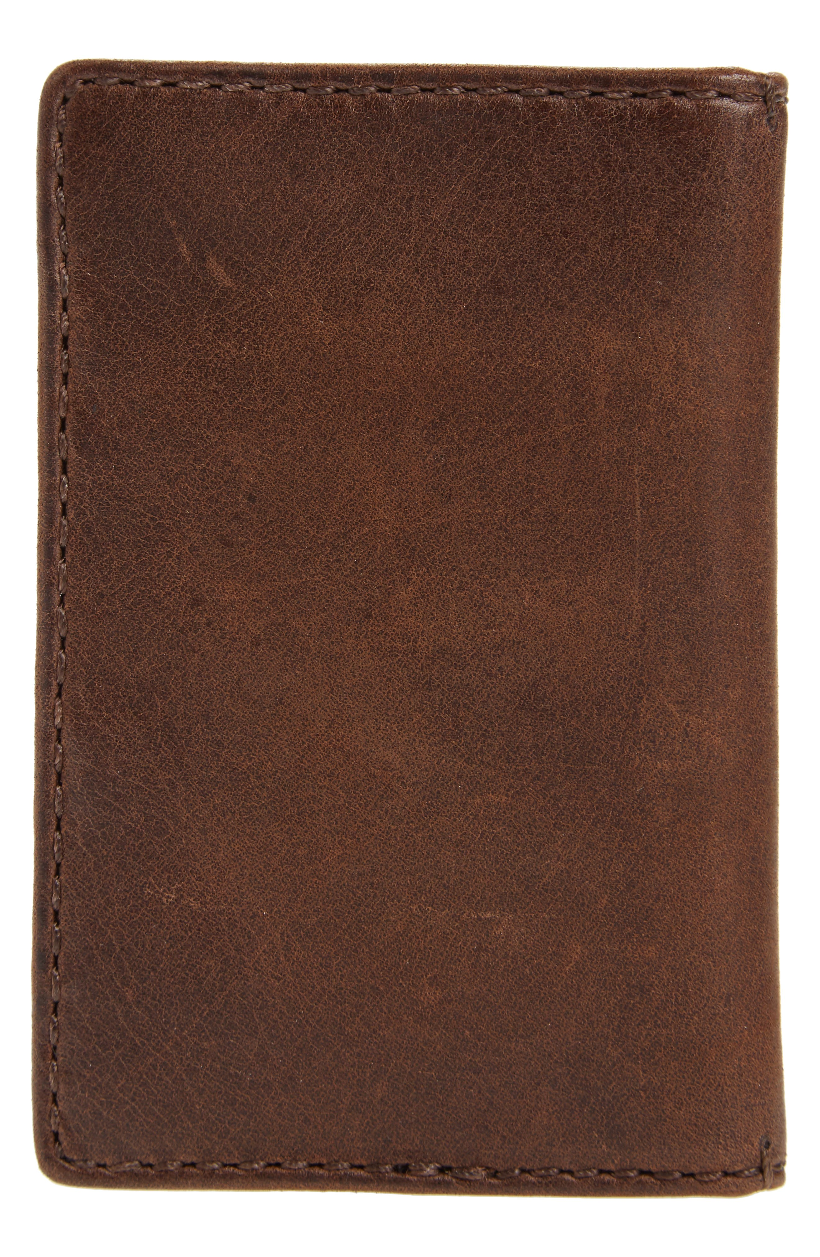 Oliver Leather Wallet,                             Alternate thumbnail 3, color,                             Dark Brown