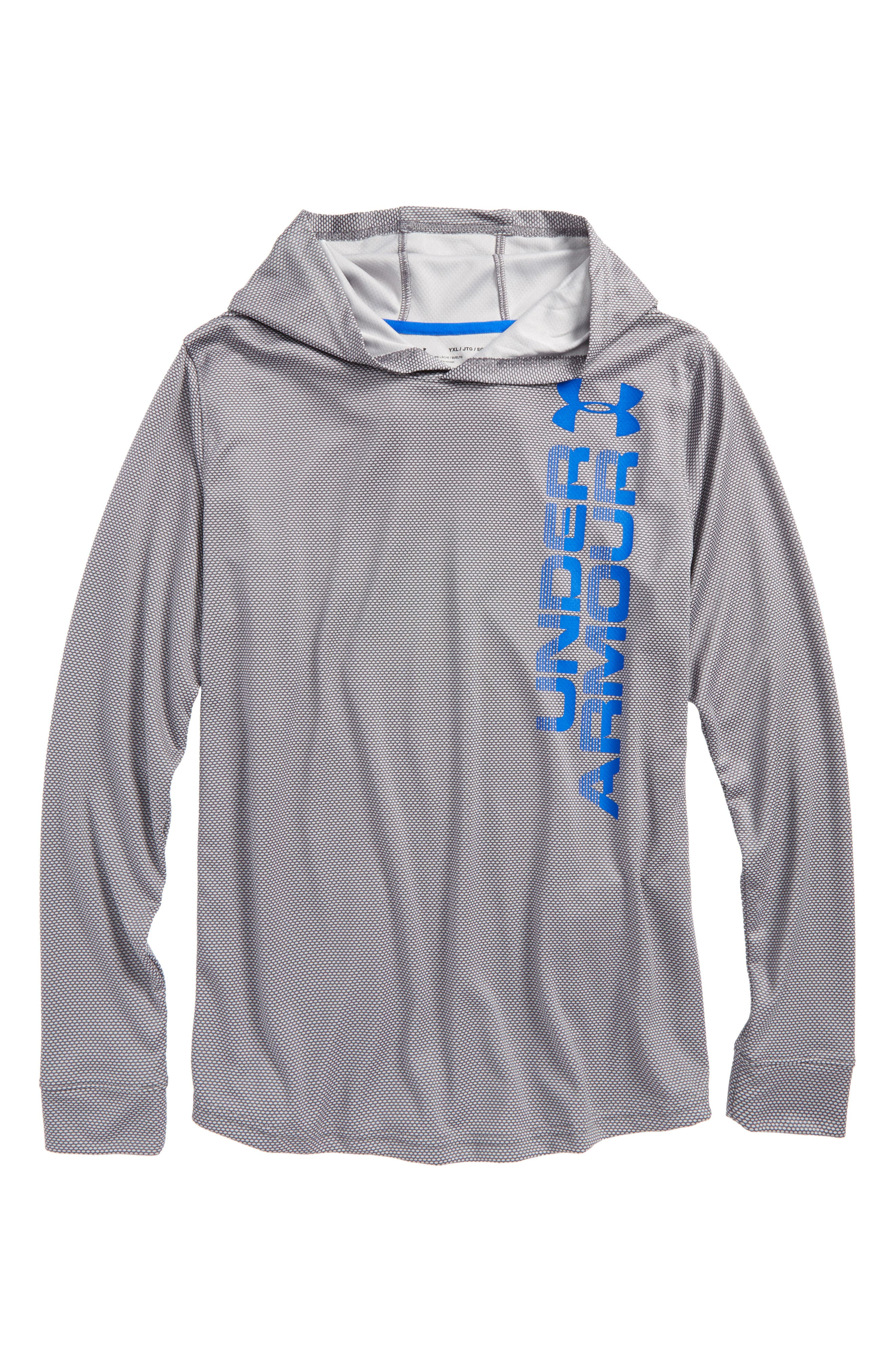 Textured Tech Hoodie,                         Main,                         color, Graphite/ Ultra Blue