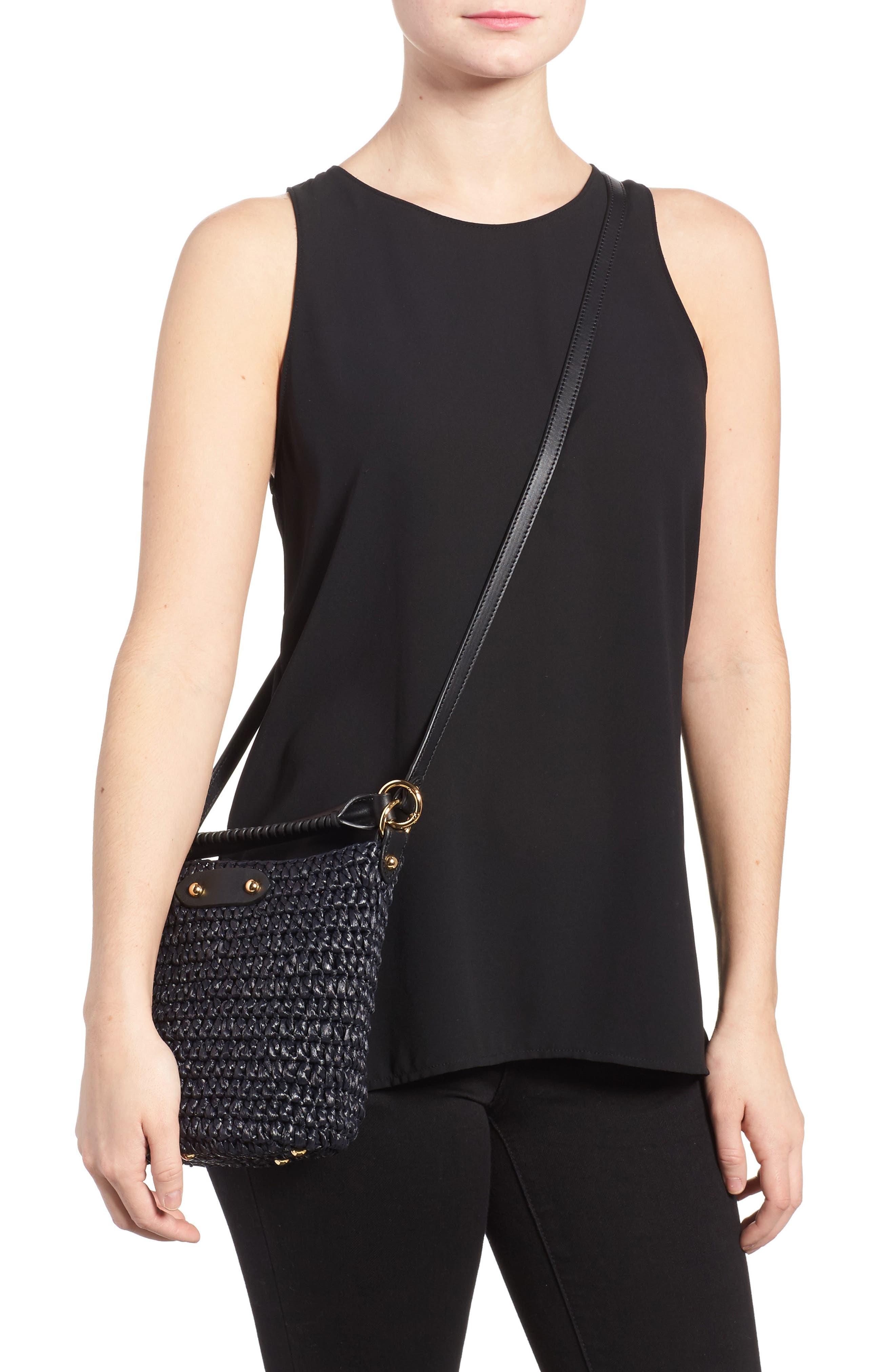 Alternate Image 2  - Diane von Furstenberg Mini Raffia Bucket Bag