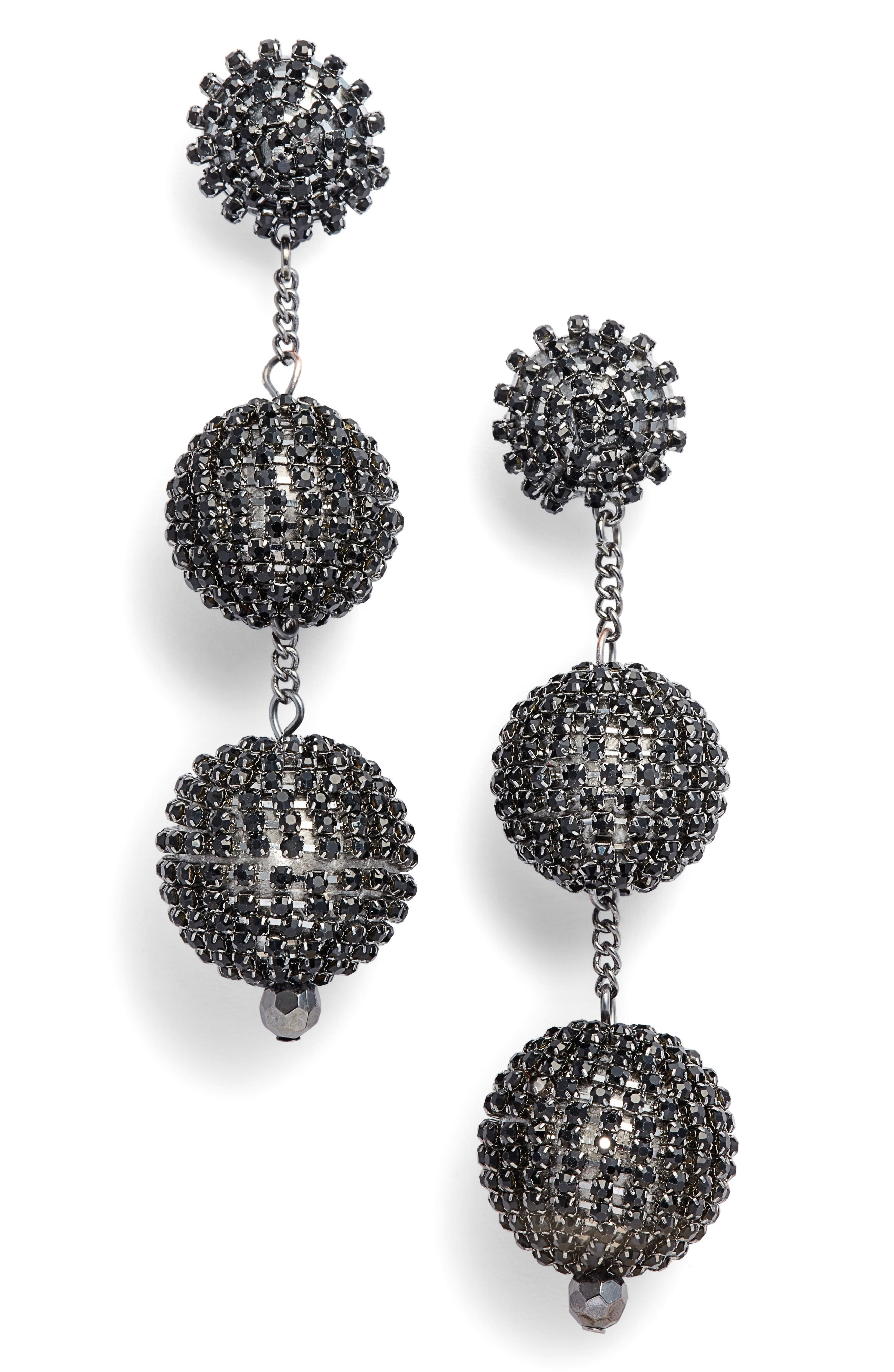 Main Image - Tasha Crystal Ball Drop Earrings