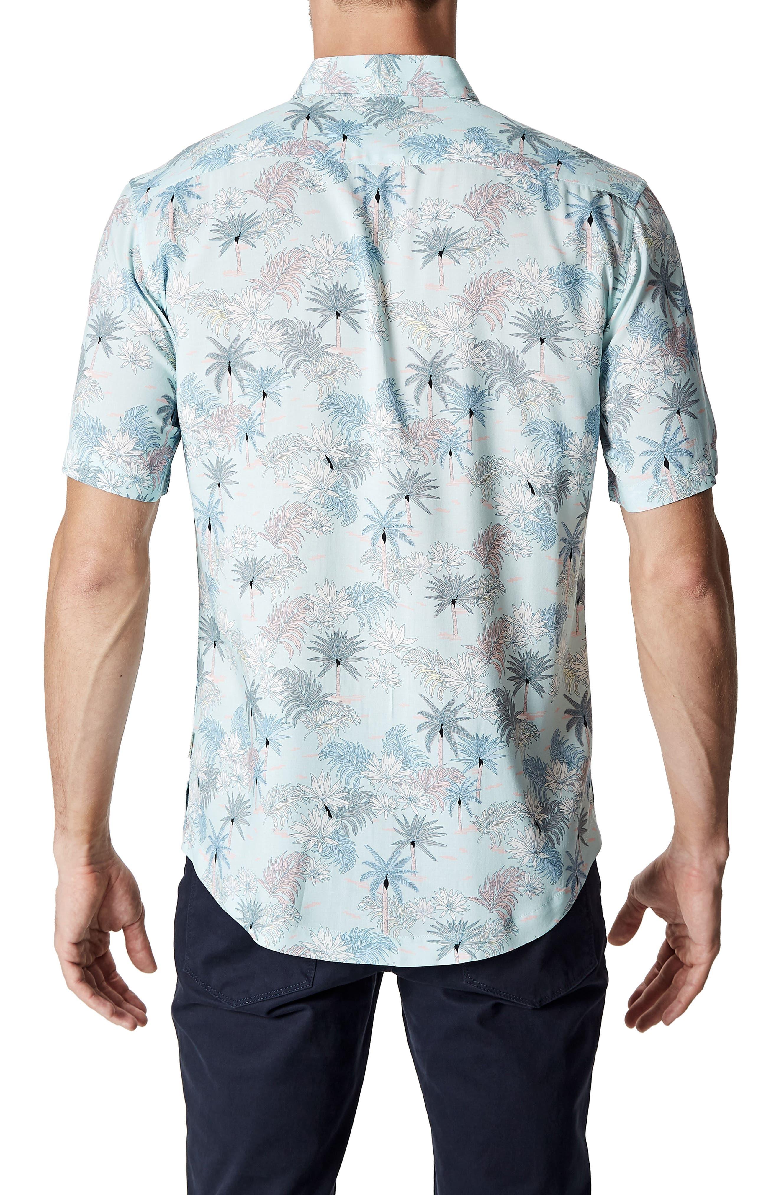 Rebel Music Trim Fit Short Sleeve Sport Shirt,                             Alternate thumbnail 2, color,                             Mint