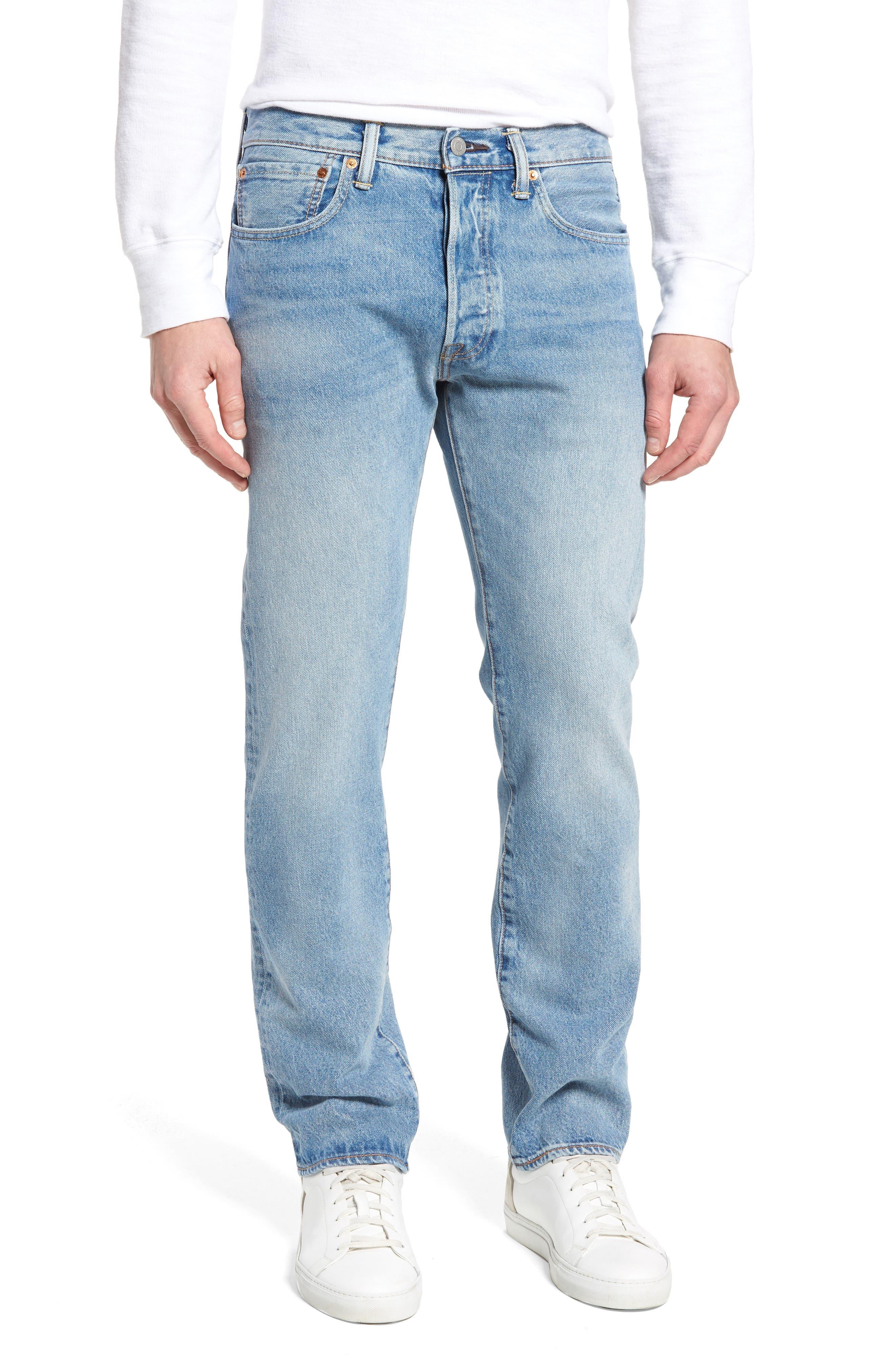 501<sup>™</sup> Slim Straight Leg Jeans,                         Main,                         color, Mowhawk