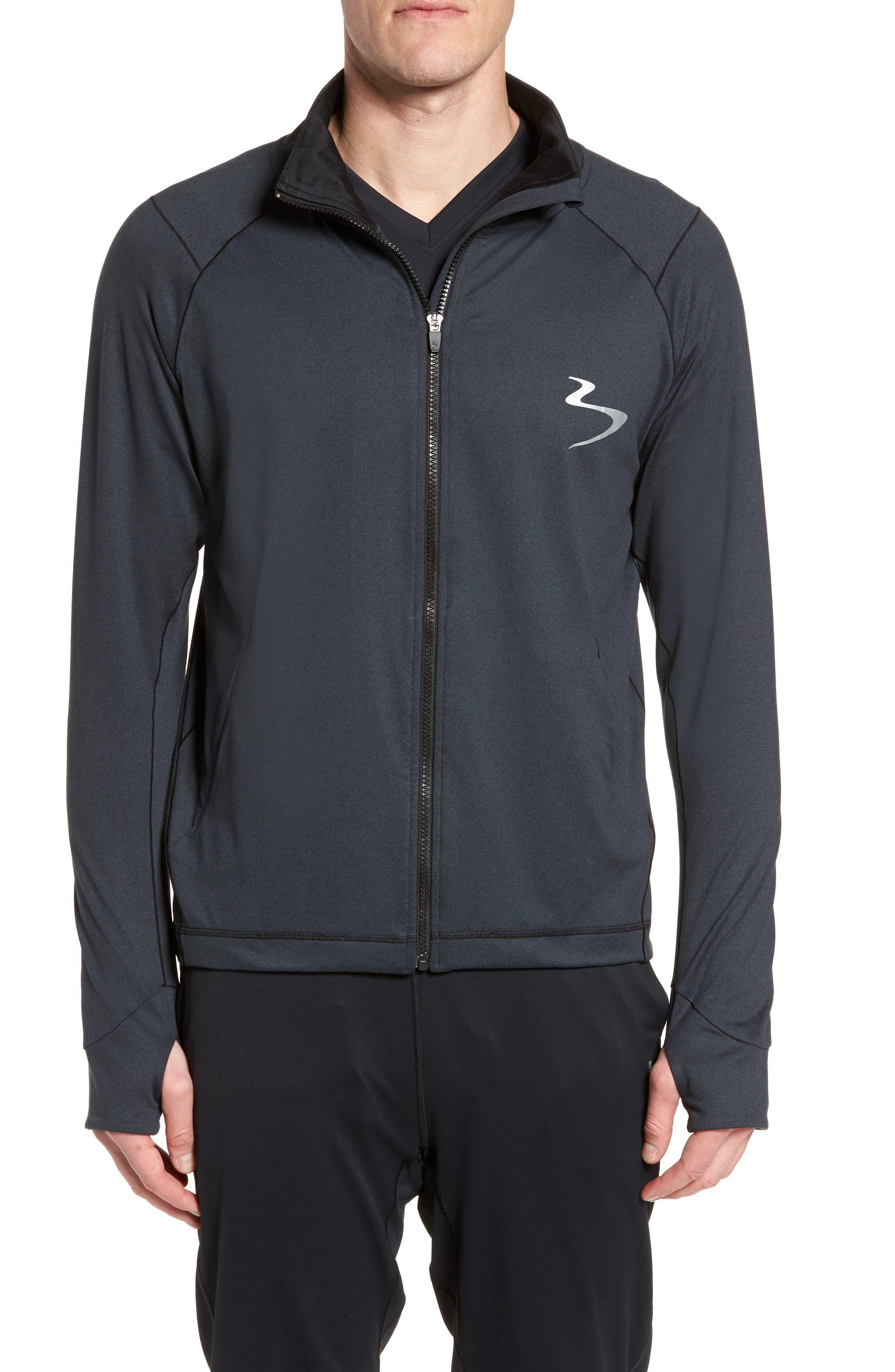 Energy Training Jacket,                         Main,                         color, Black Heather