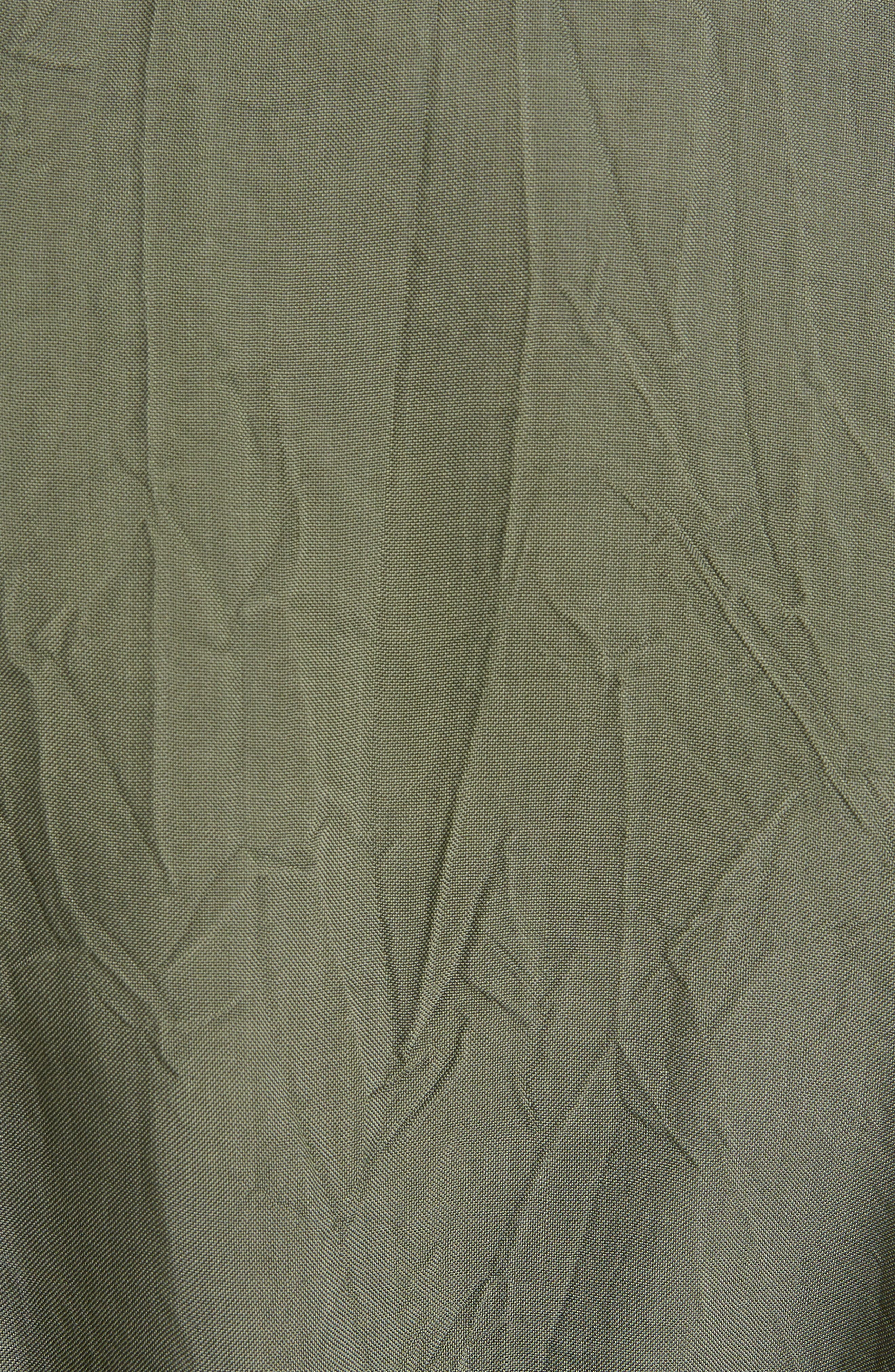 Crinkled Trench Coat,                             Alternate thumbnail 5, color,                             Green