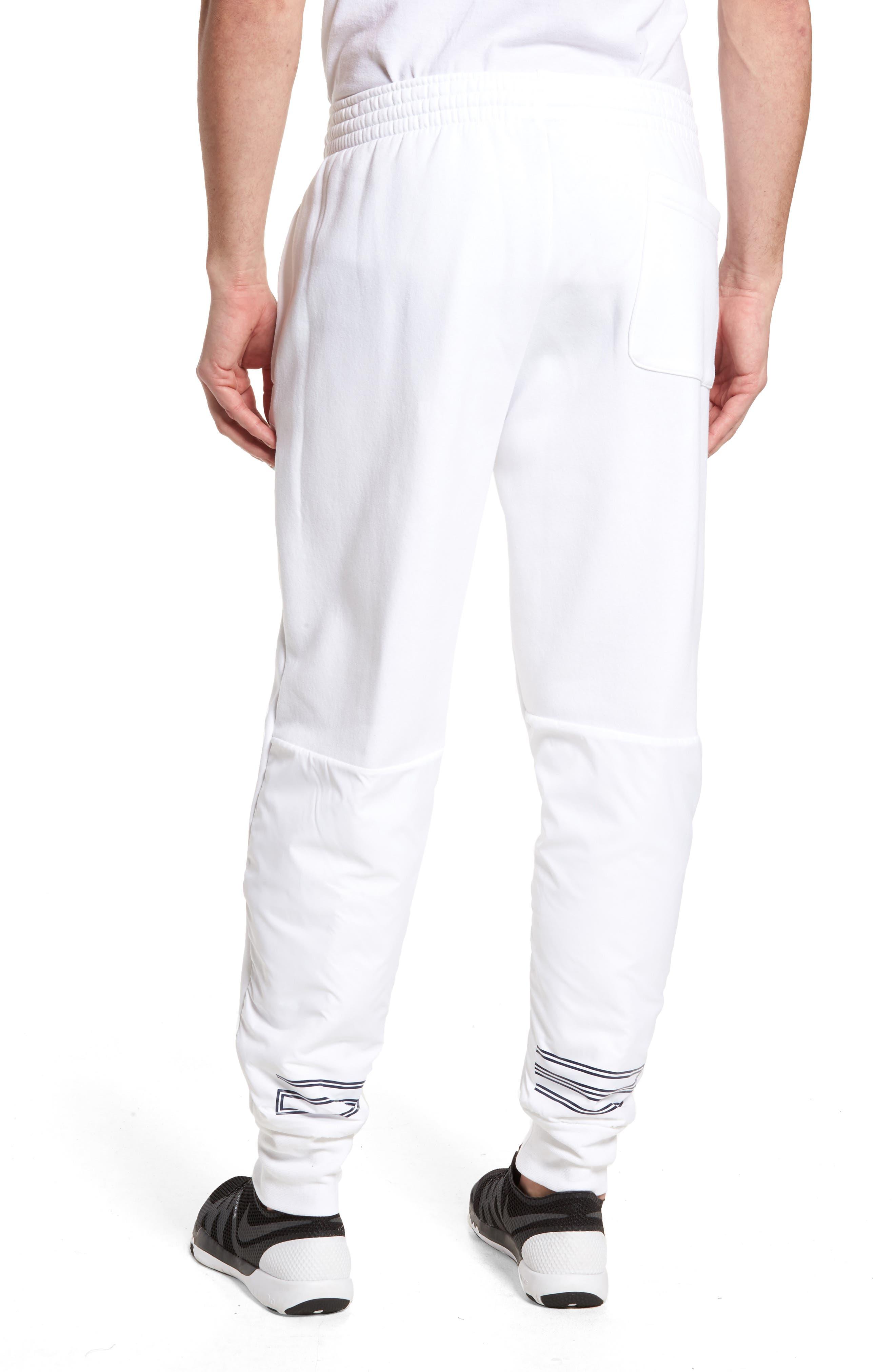 Jordan AJ11 Hybrid Pants,                             Alternate thumbnail 2, color,                             White