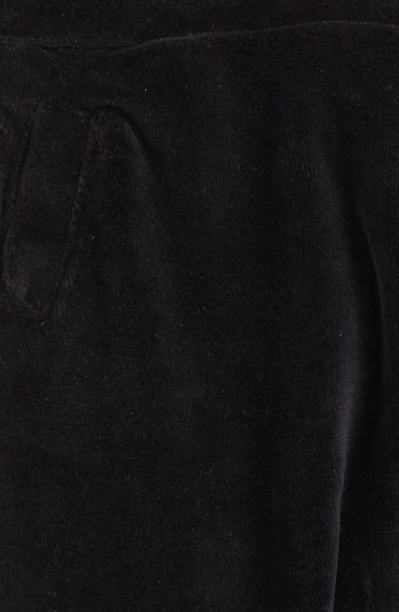 Velour Sweatpants,                             Alternate thumbnail 2, color,                             Black