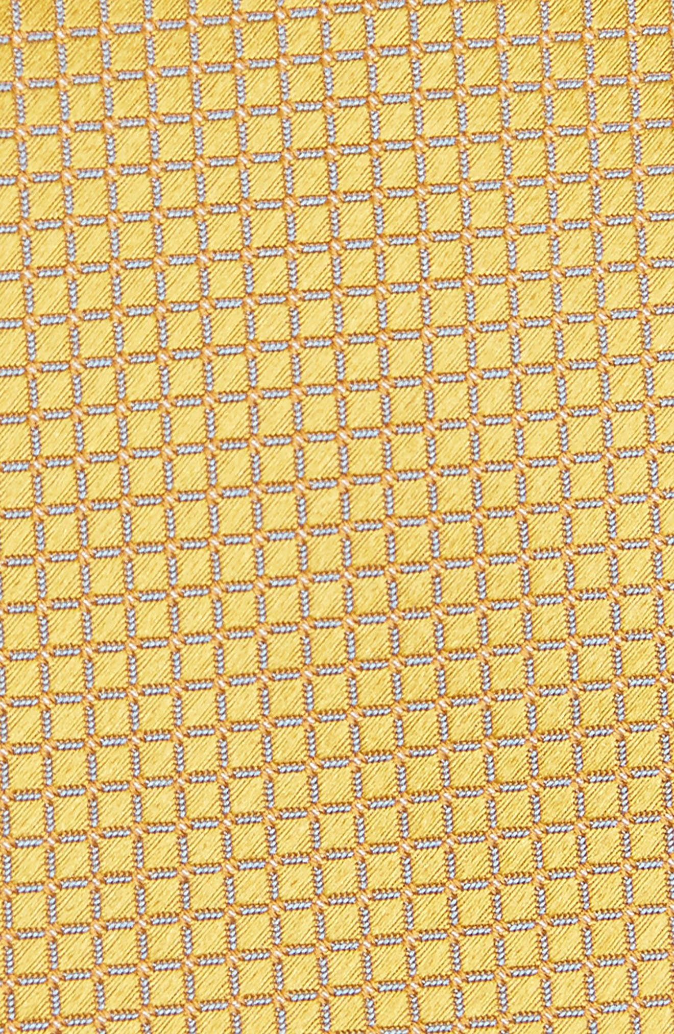 Grid Silk Tie,                             Alternate thumbnail 2, color,                             Gold