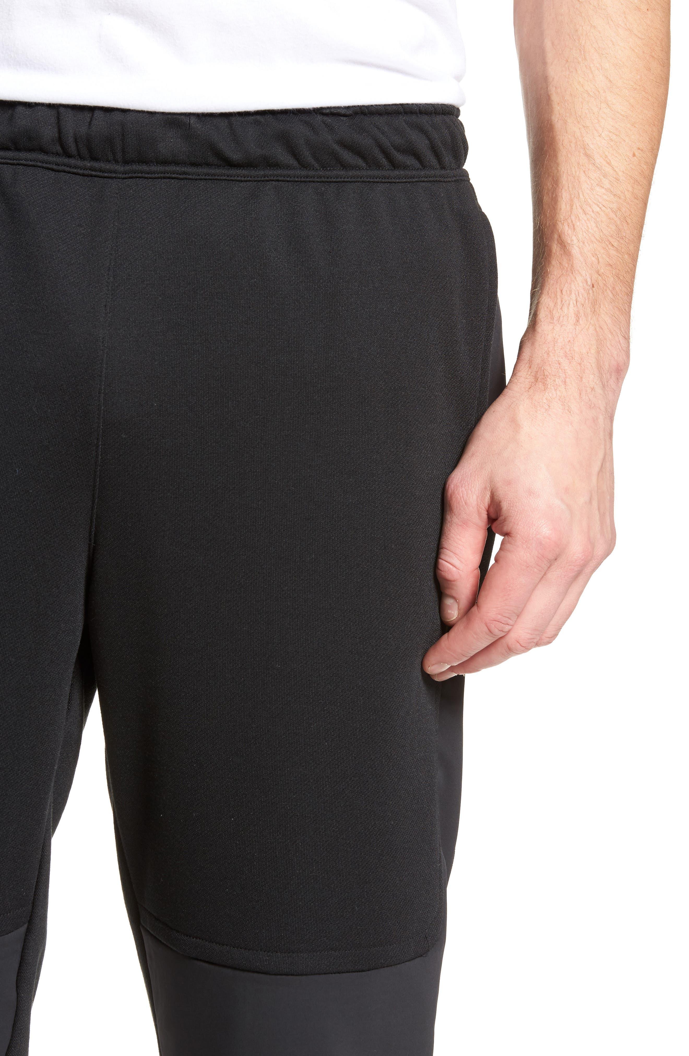 Training Project X Jogger Pants,                             Alternate thumbnail 4, color,                             Black/ Black/ White