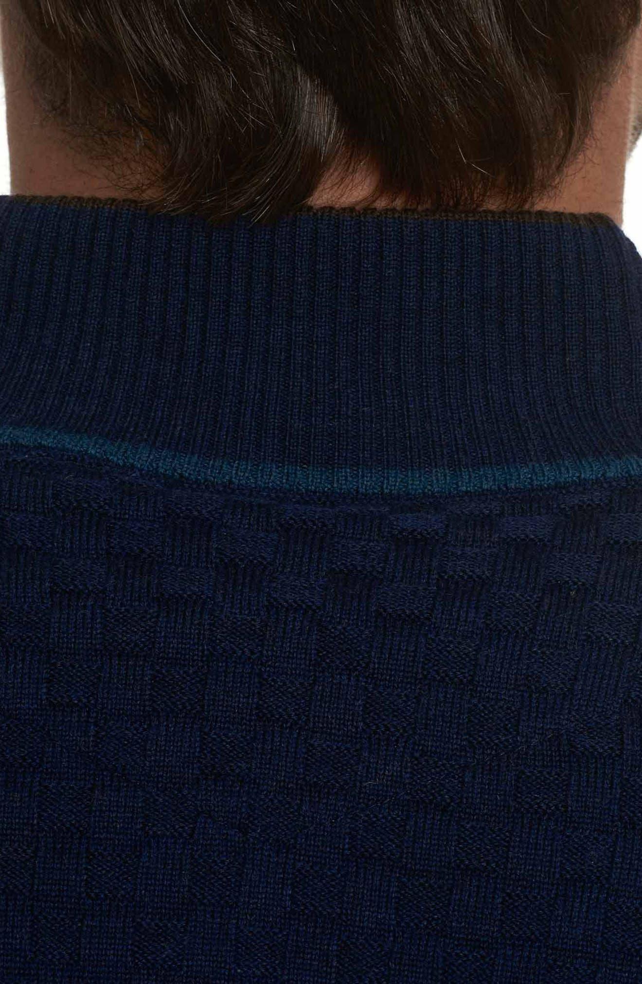 American Beech Wool Sweater,                             Alternate thumbnail 3, color,                             Navy