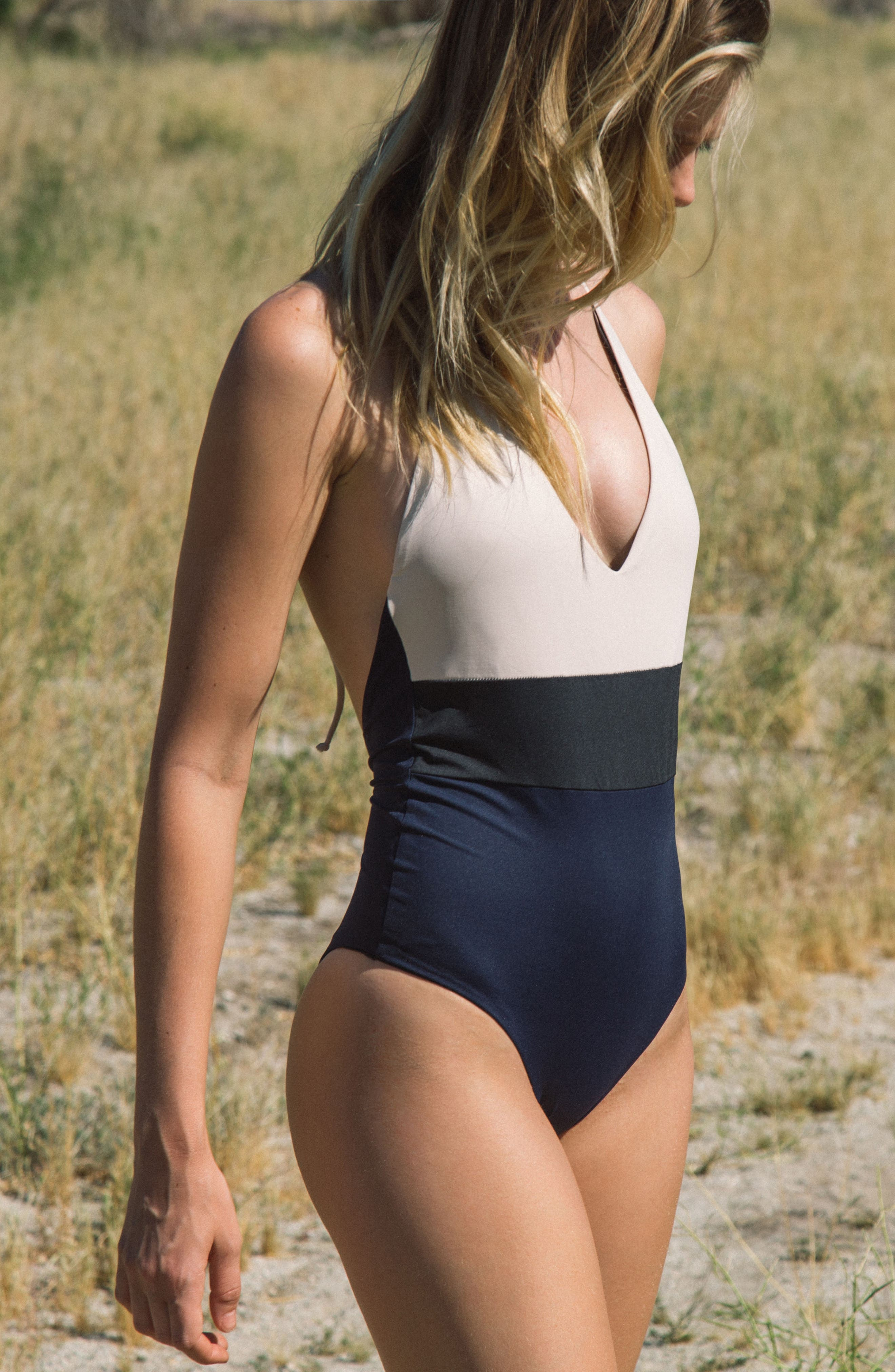 Chase One-Piece Swimsuit,                             Alternate thumbnail 7, color,                             Evening Blue