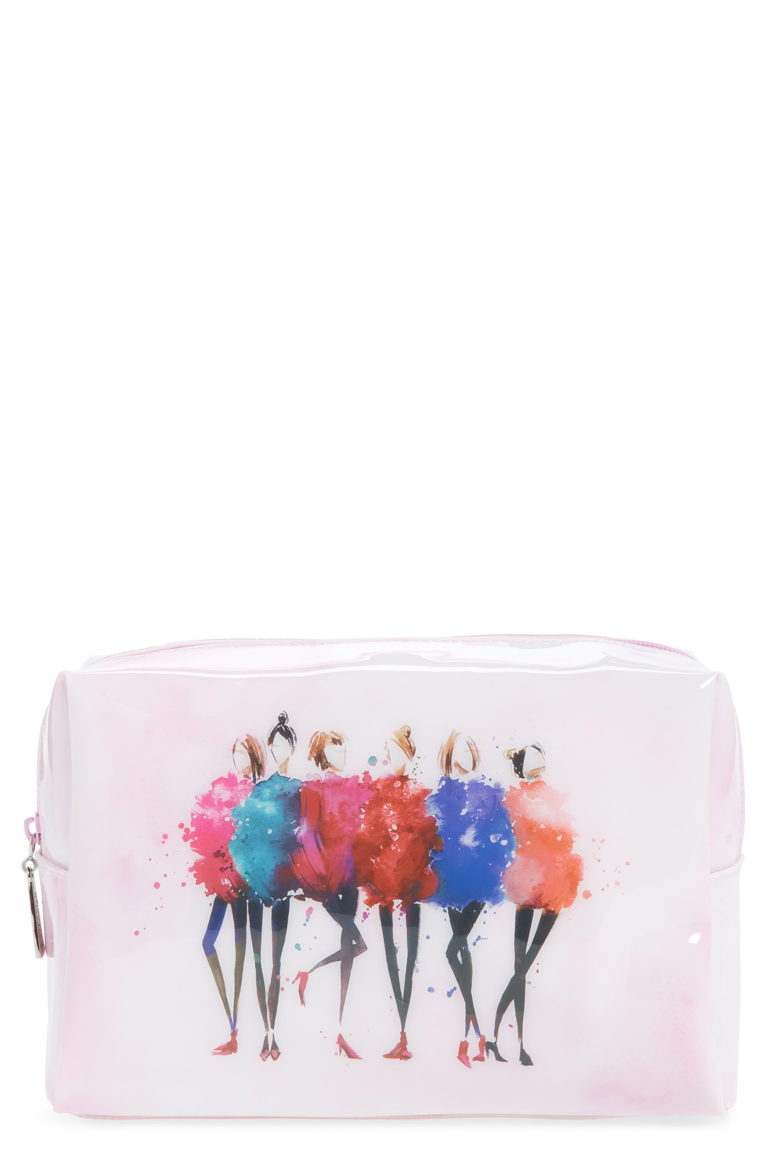 Catseye London Watercolor Women Large Cosmetics Case