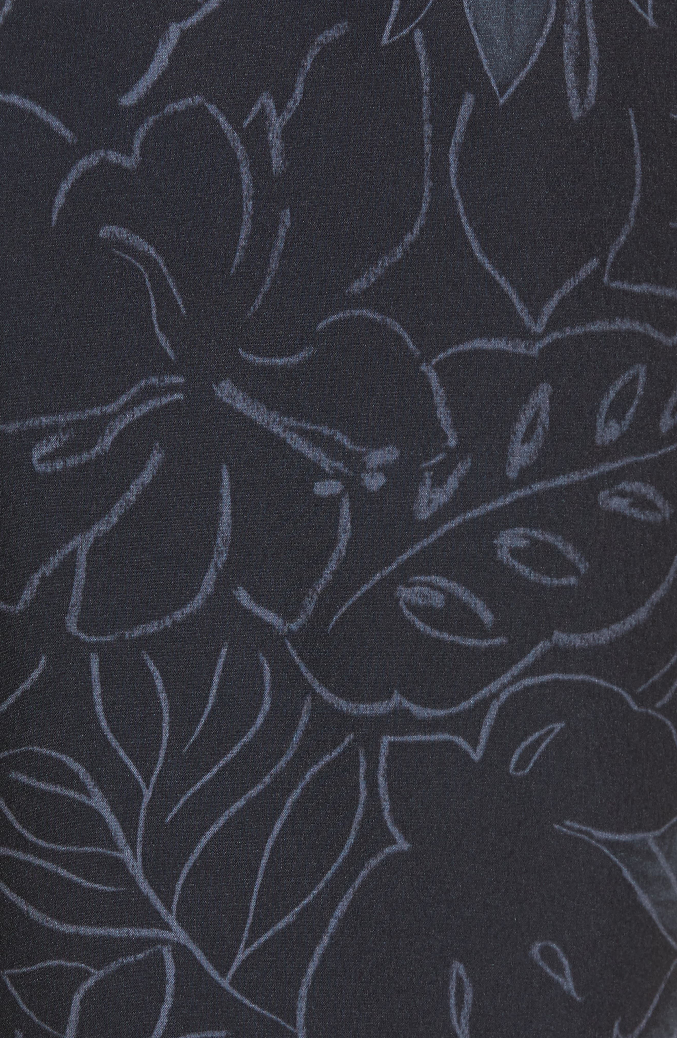 Cayman Sarasota Sketch Swim Trunks,                             Alternate thumbnail 5, color,                             Black