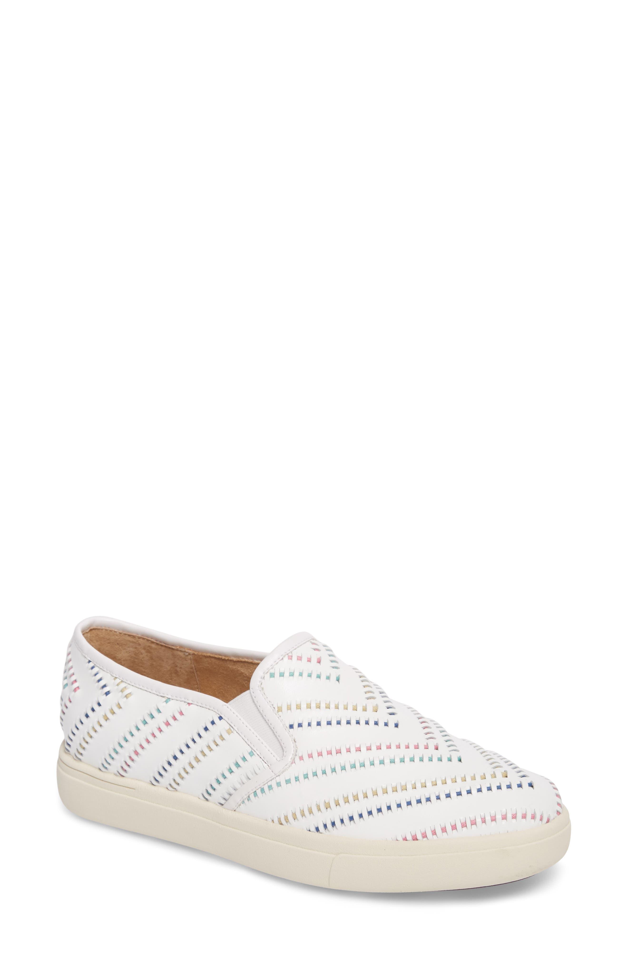 Ocean Slip-On Sneaker,                             Main thumbnail 1, color,                             White Leather