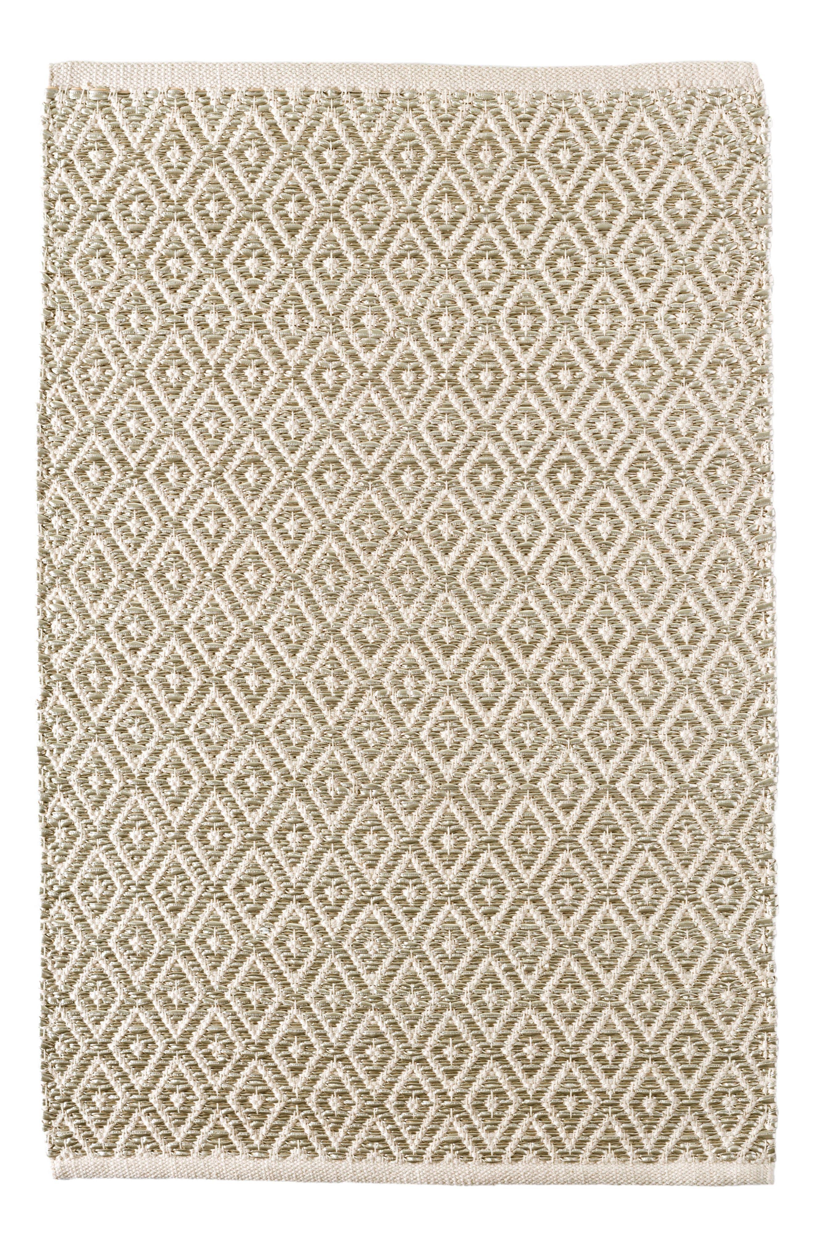 Glitter Diamond Woven Rug,                             Main thumbnail 1, color,                             Metallic