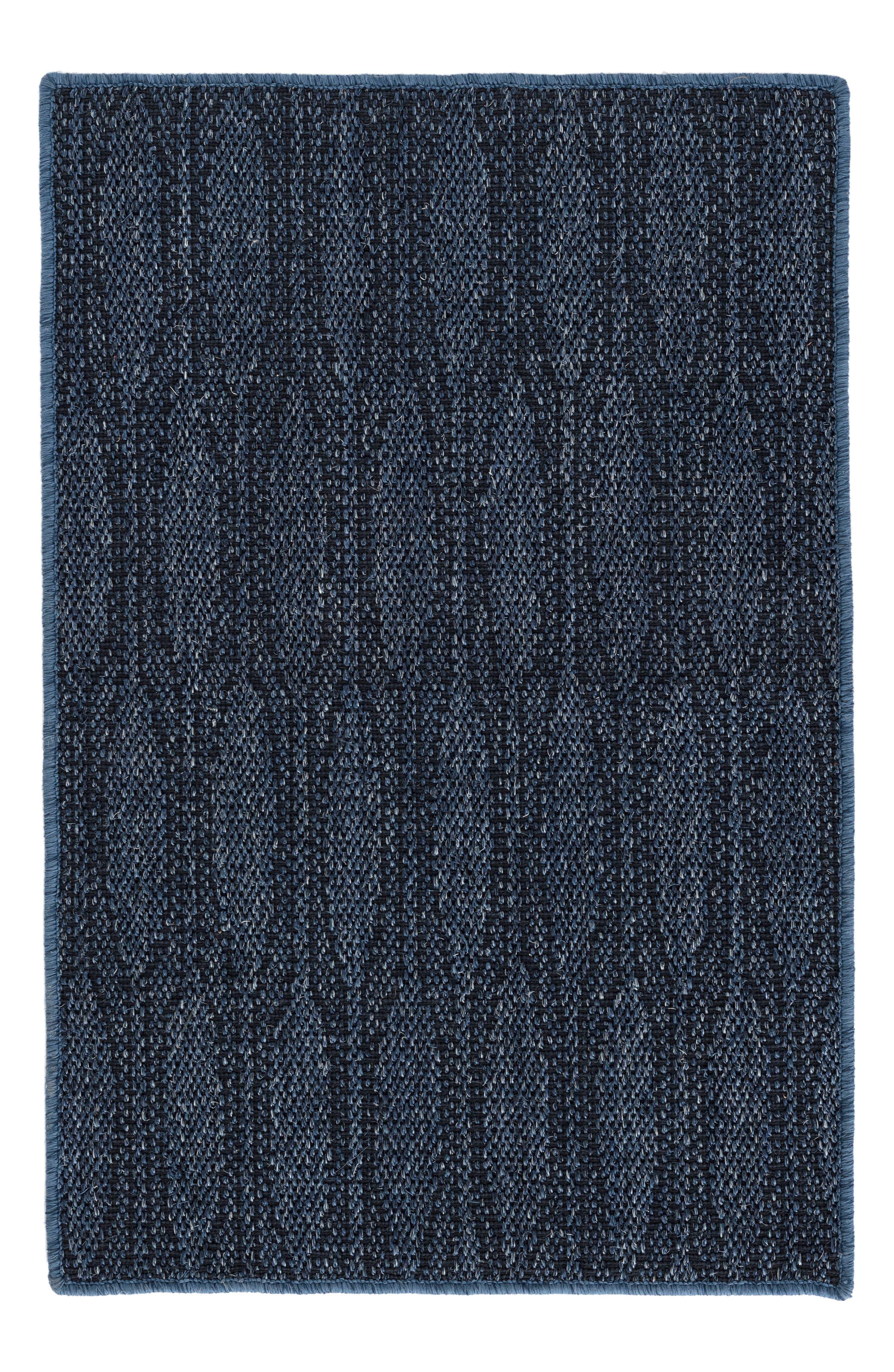 Elliptic Indigo Woven Rug,                         Main,                         color, Blue