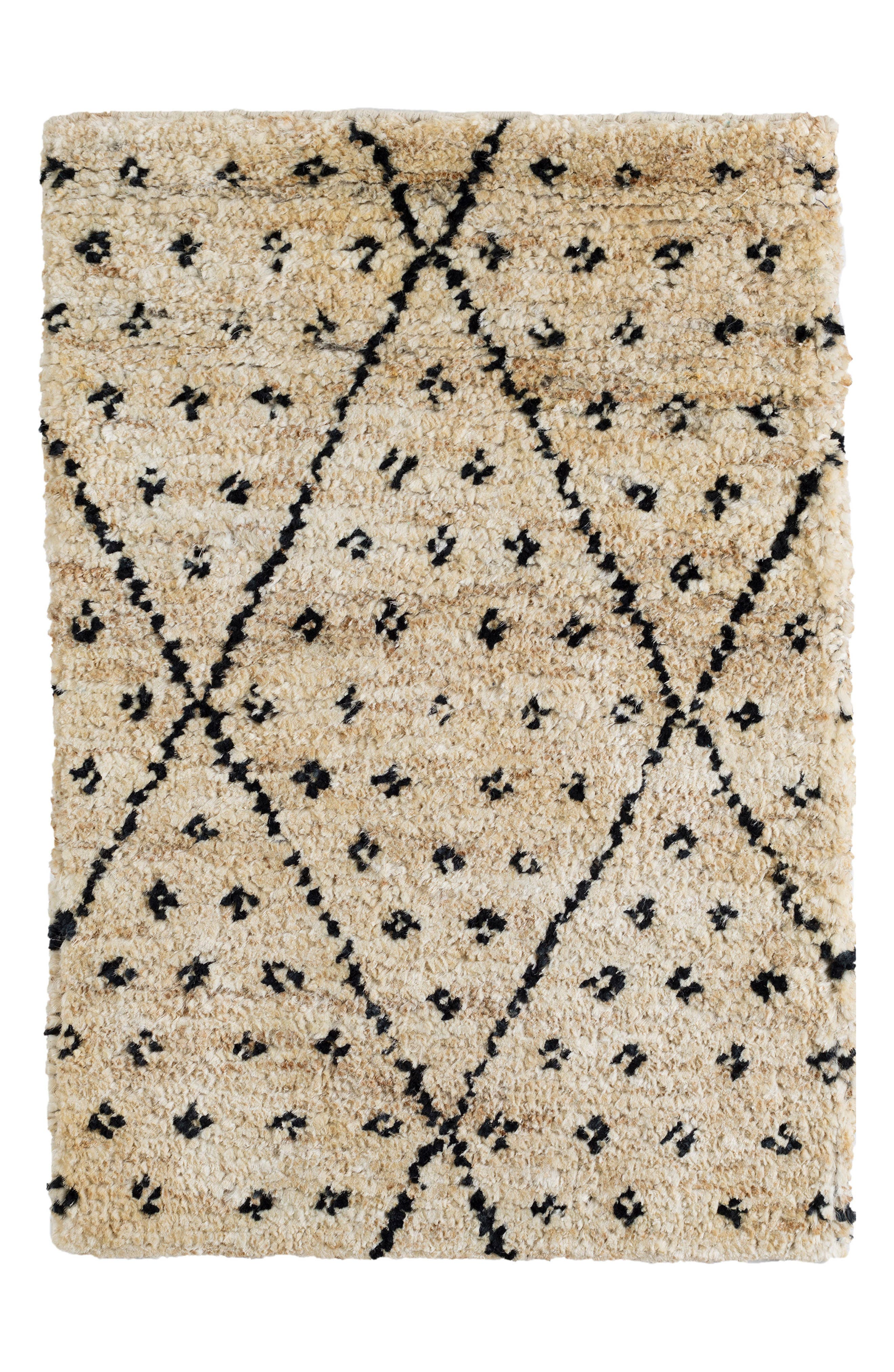 Doti Hand Knotted Jute & Cotton Rug,                         Main,                         color, Black
