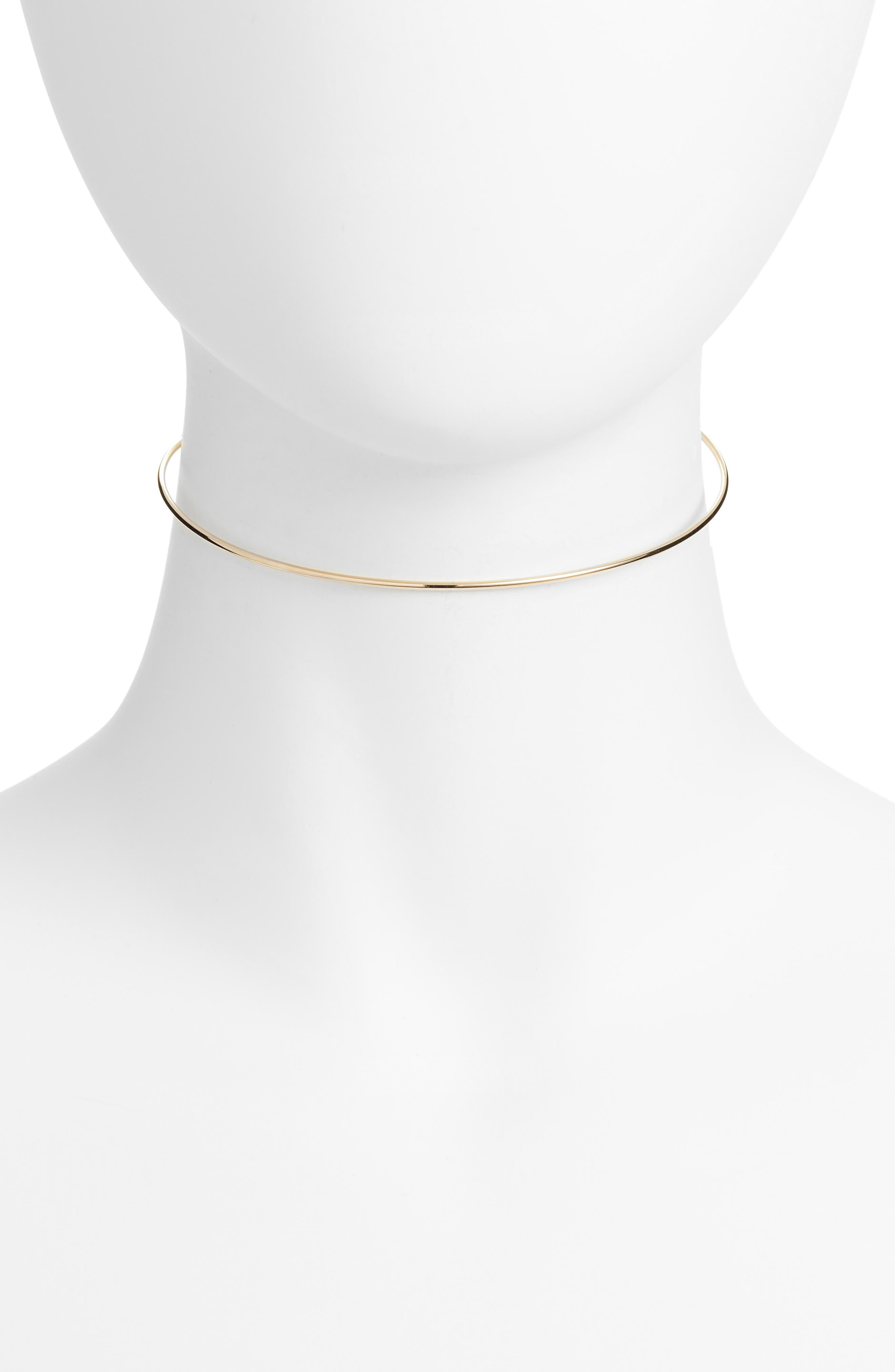 Olivia Wire Choker Necklace,                         Main,                         color, Gold