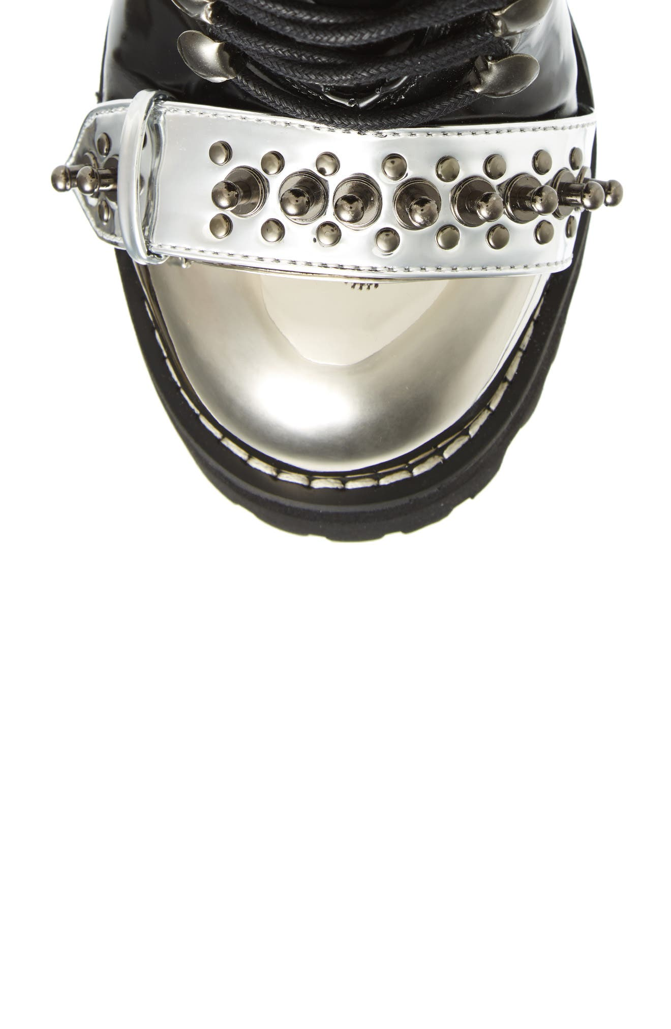 Scorpius Armored Lug Boot,                             Alternate thumbnail 5, color,                             Black Box Silver White