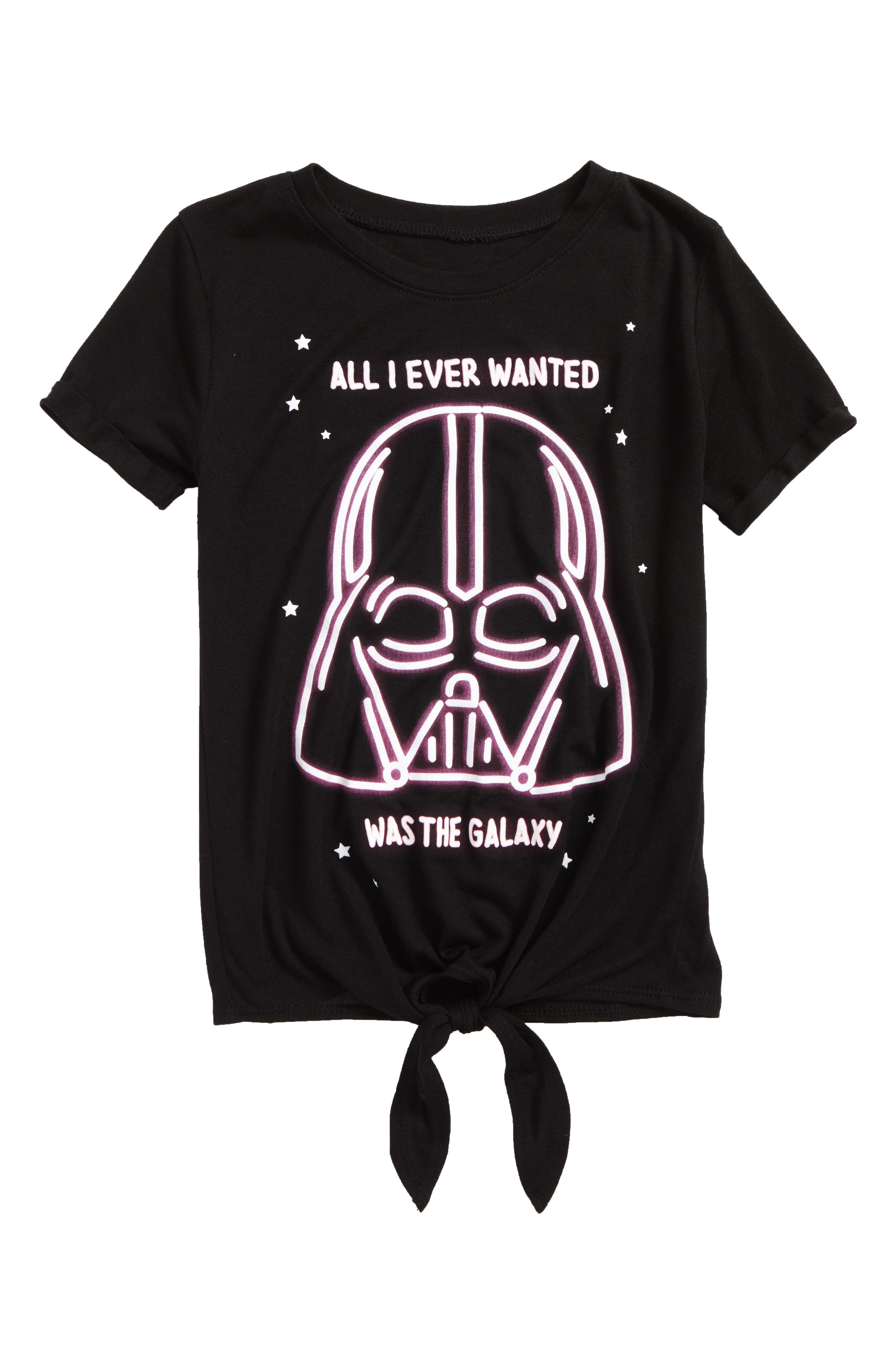Alternate Image 1 Selected - Mighty Fine Star Wars™ All I Ever Wanted Graphic Tee (Toddler Girls, Little Girls & Big Girls)