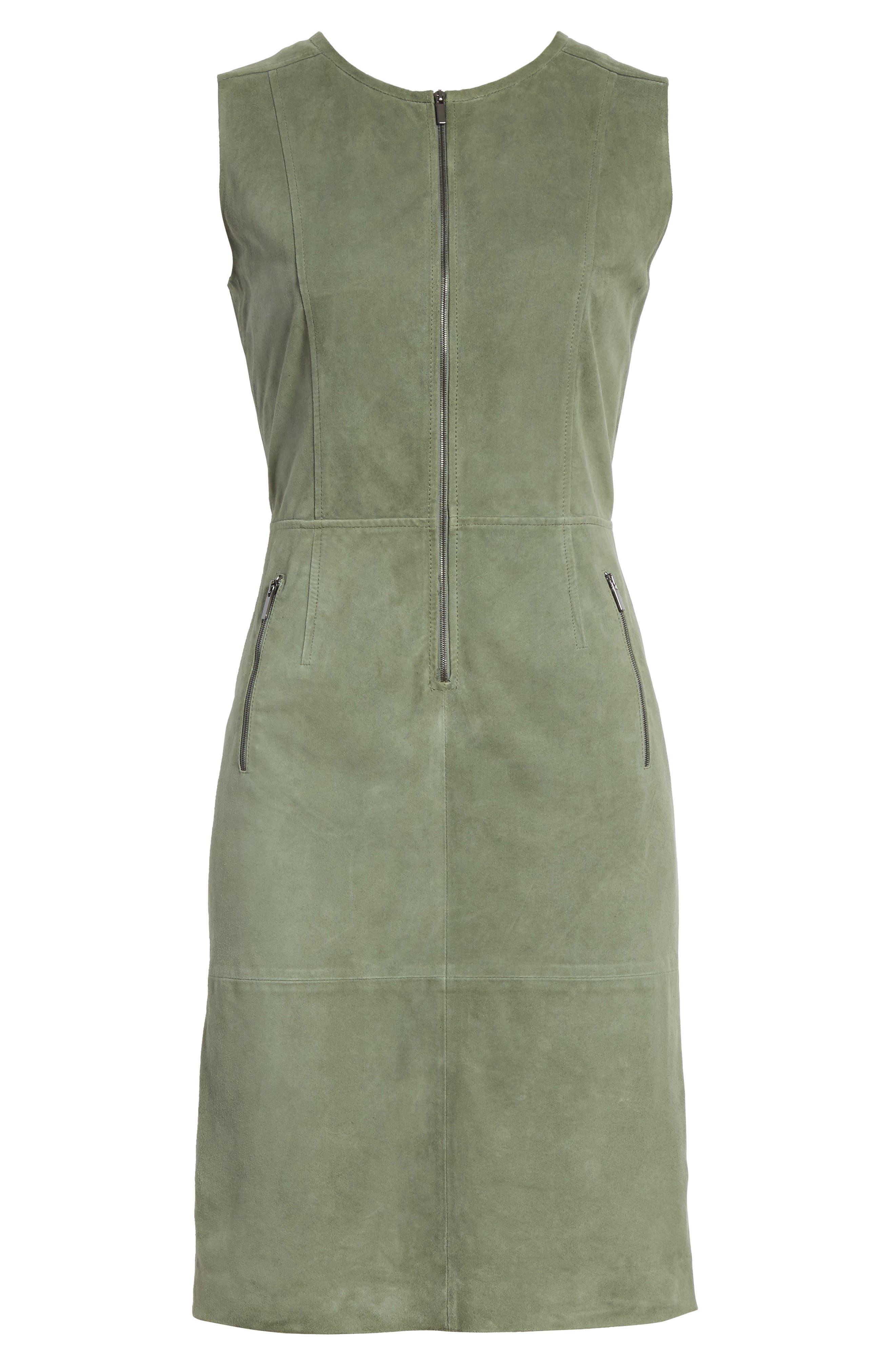 Alternate Image 6  - St. John Collection Suede Dress