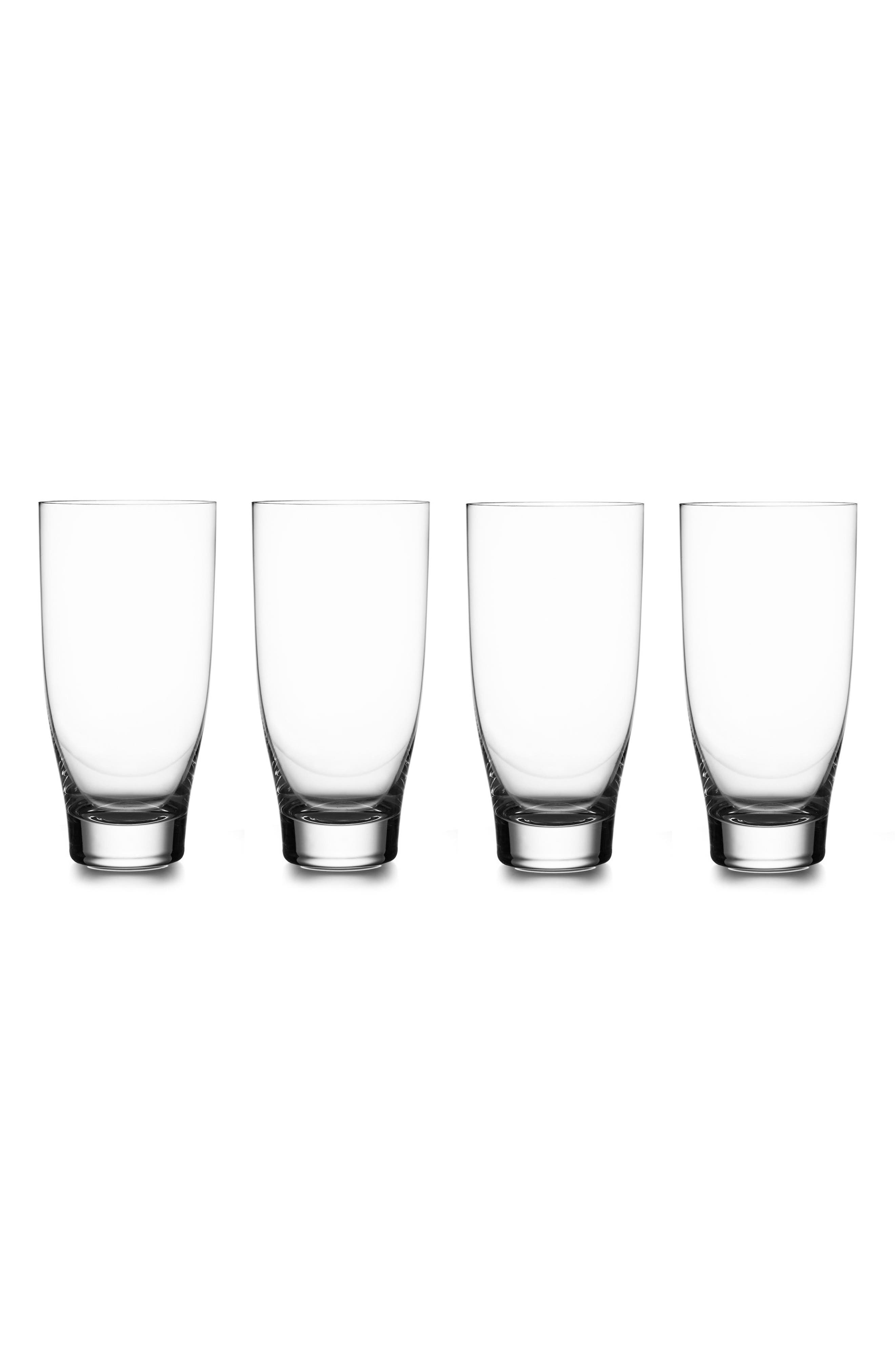 Vie Set of 4 Highball Glasses,                         Main,                         color, Clear