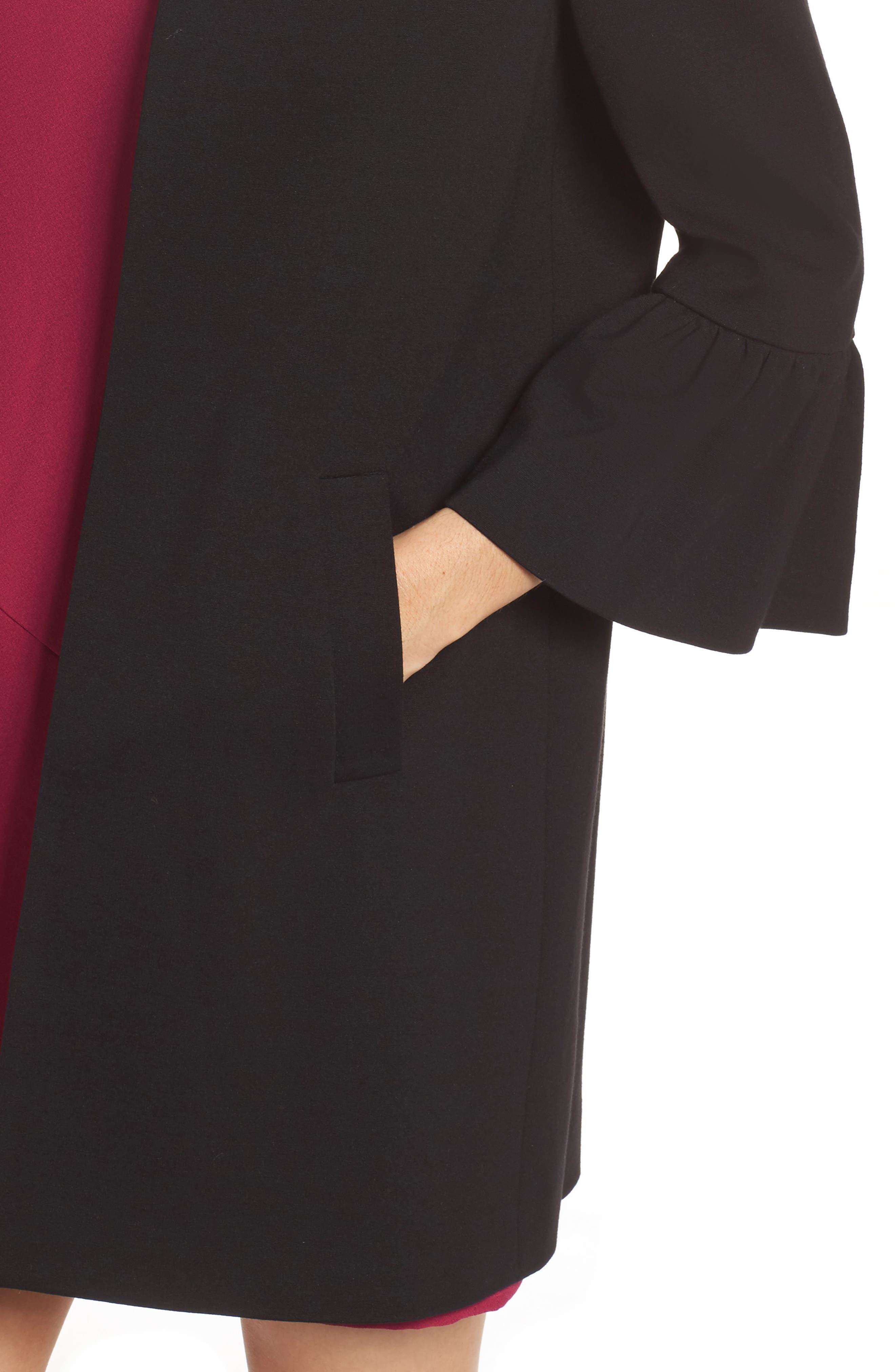 Alternate Image 4  - Eliza J Longline Bell Sleeve Jacket