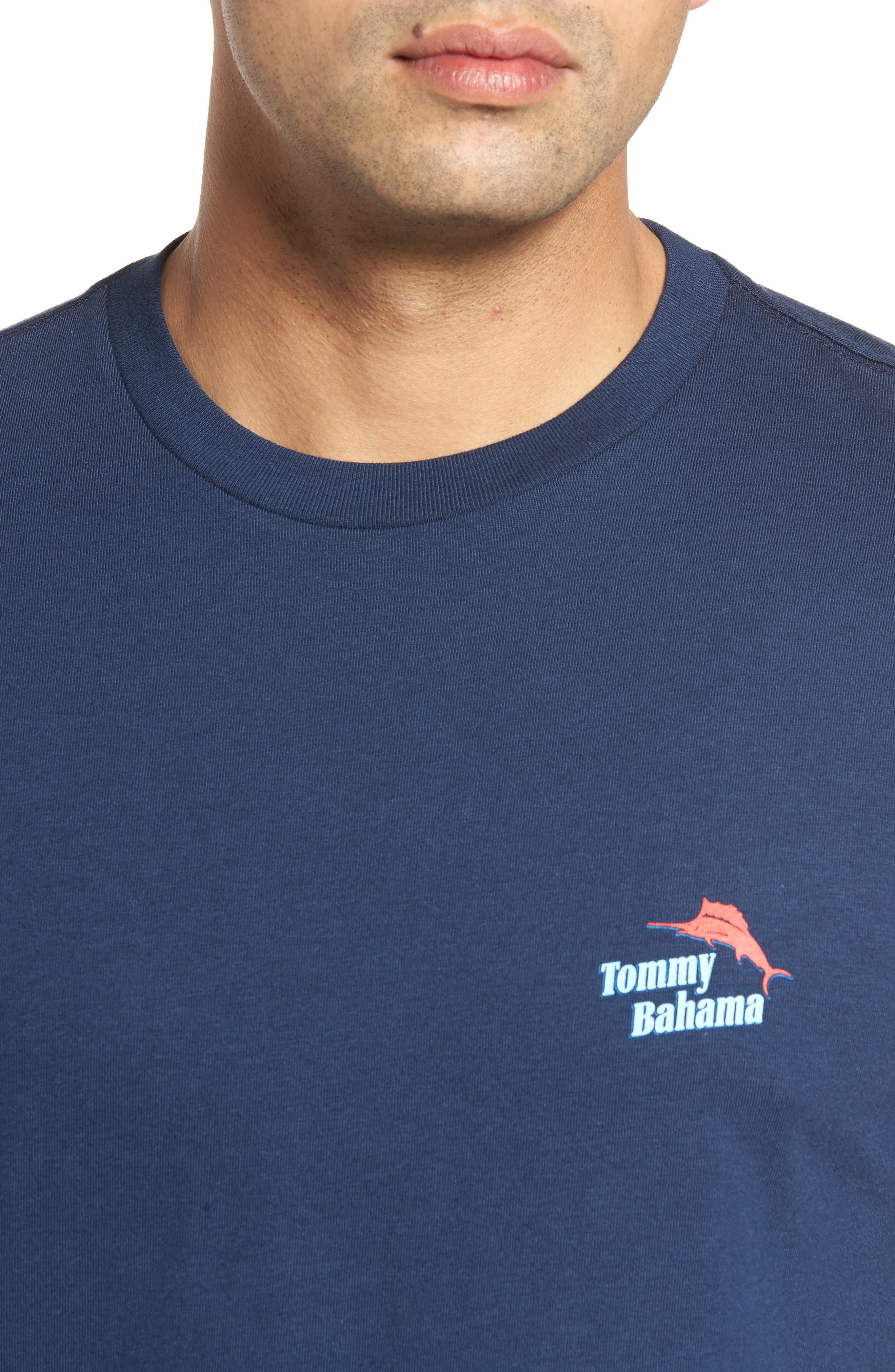 Parrot Sailing T-Shirt,                             Alternate thumbnail 4, color,                             Navy