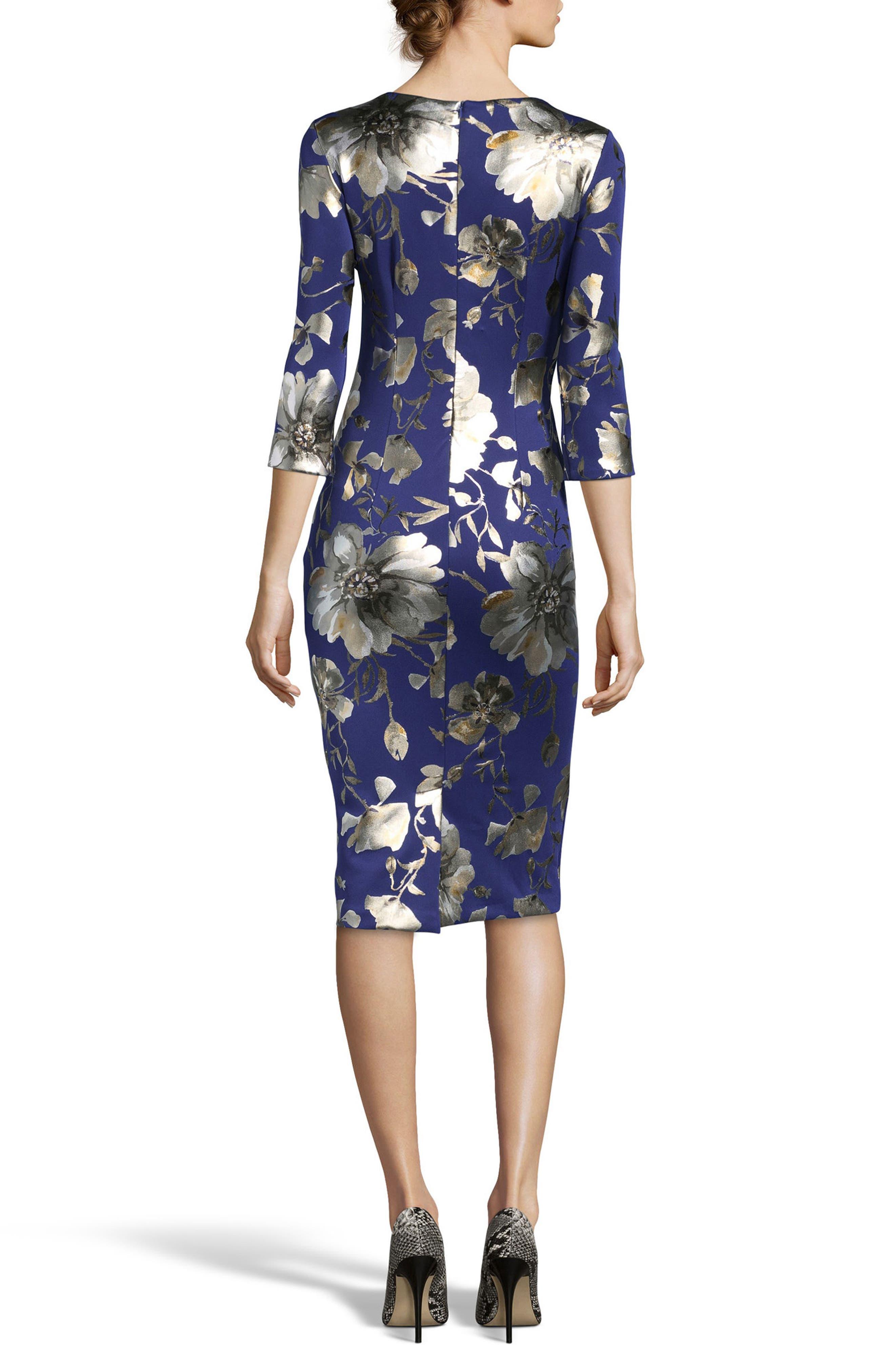 Alternate Image 2  - ECI Foil Print Sheath Dress