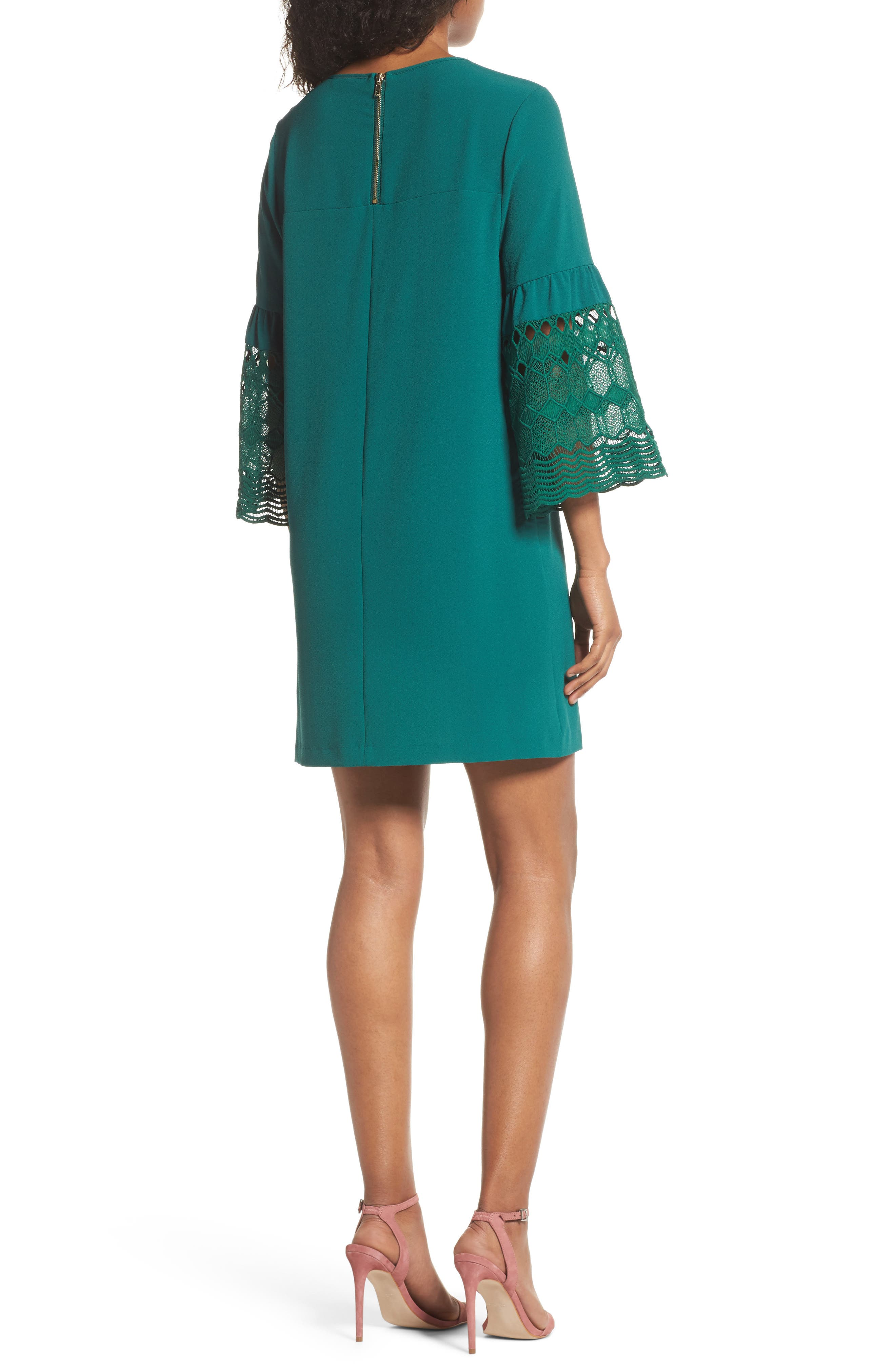Alternate Image 2  - Felicity & Coco Lace Sleeve Shift Dress (Nordstrom Exclusive)