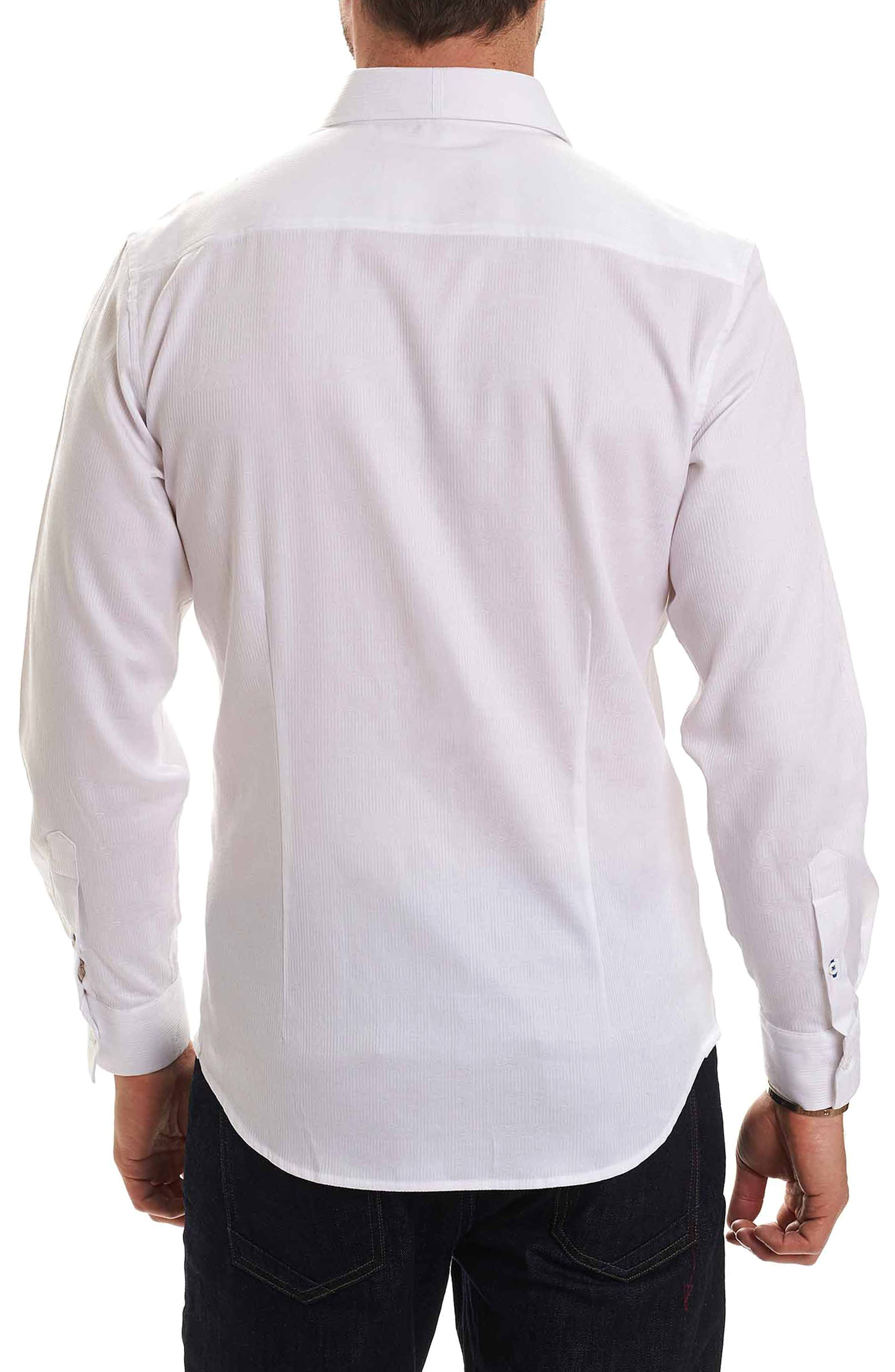 Christopher Print Sport Shirt,                             Alternate thumbnail 2, color,                             White