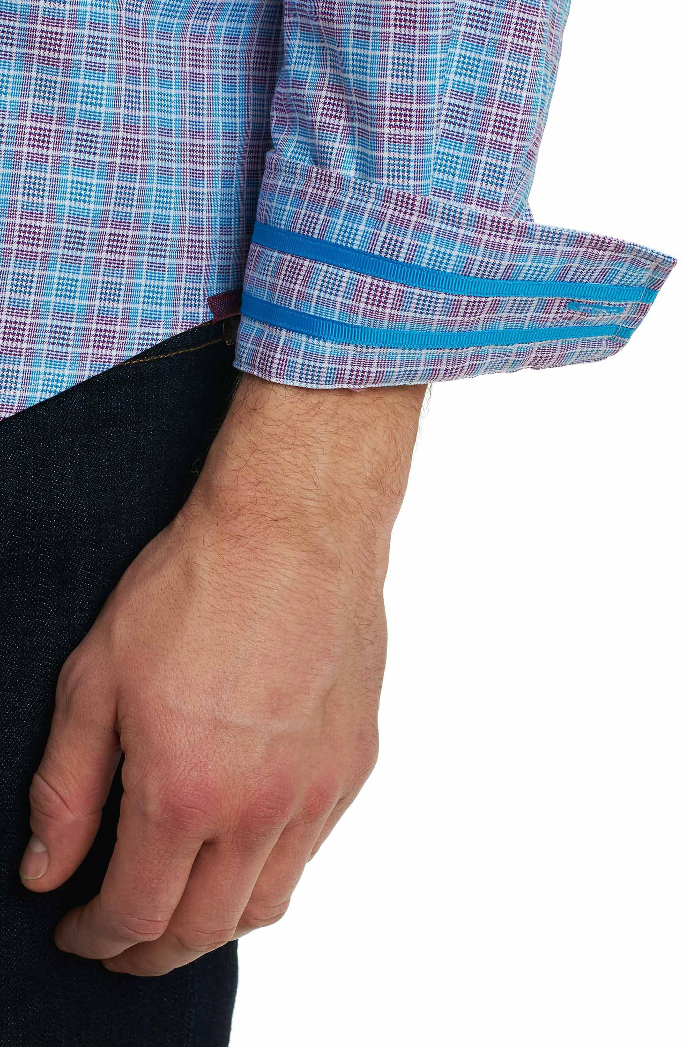 Ryan Regular Fit Sport Shirt,                             Alternate thumbnail 5, color,                             Purple