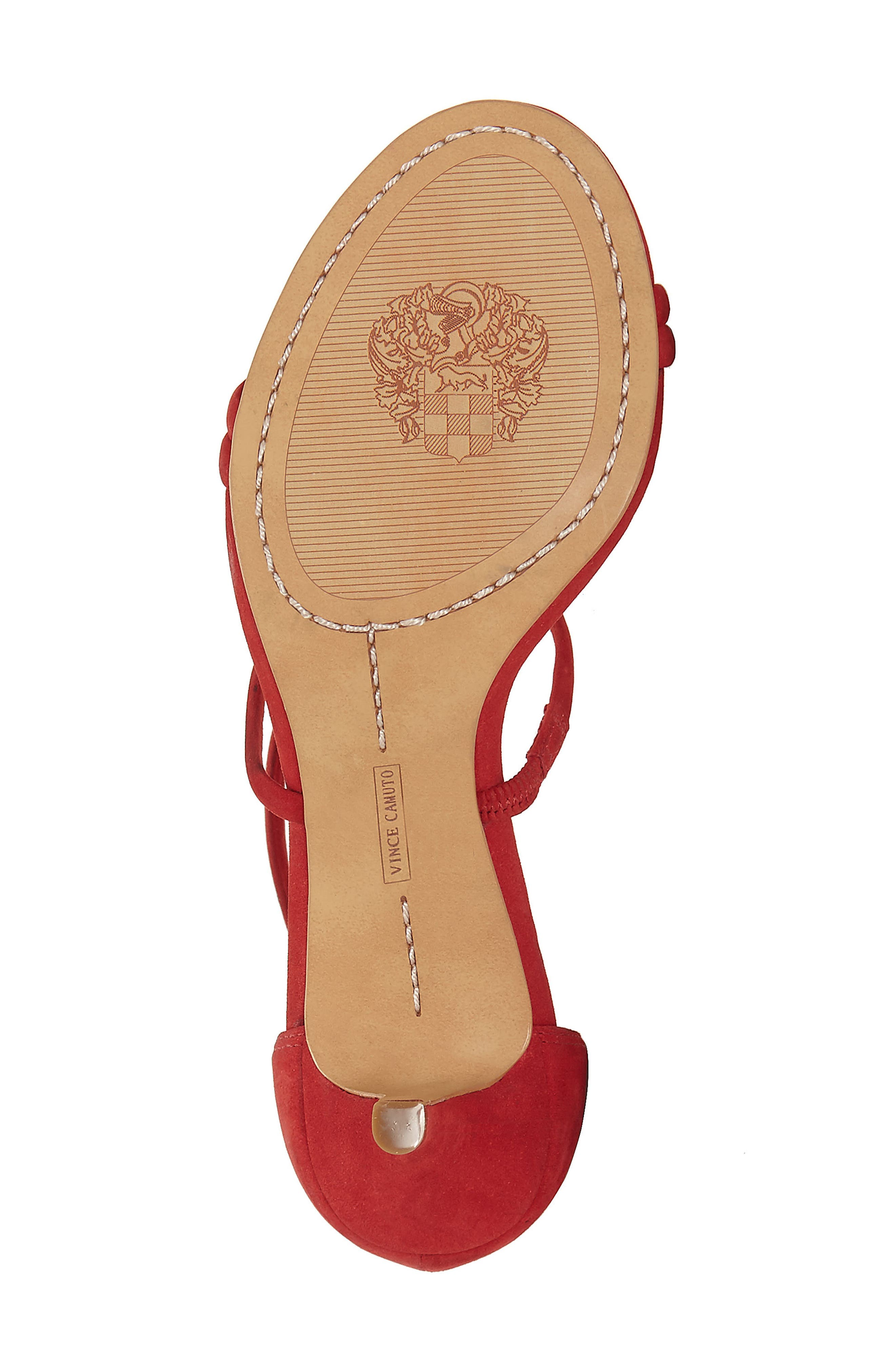 Aviran Sandal,                             Alternate thumbnail 6, color,                             Ruby Red Nubuck Leather