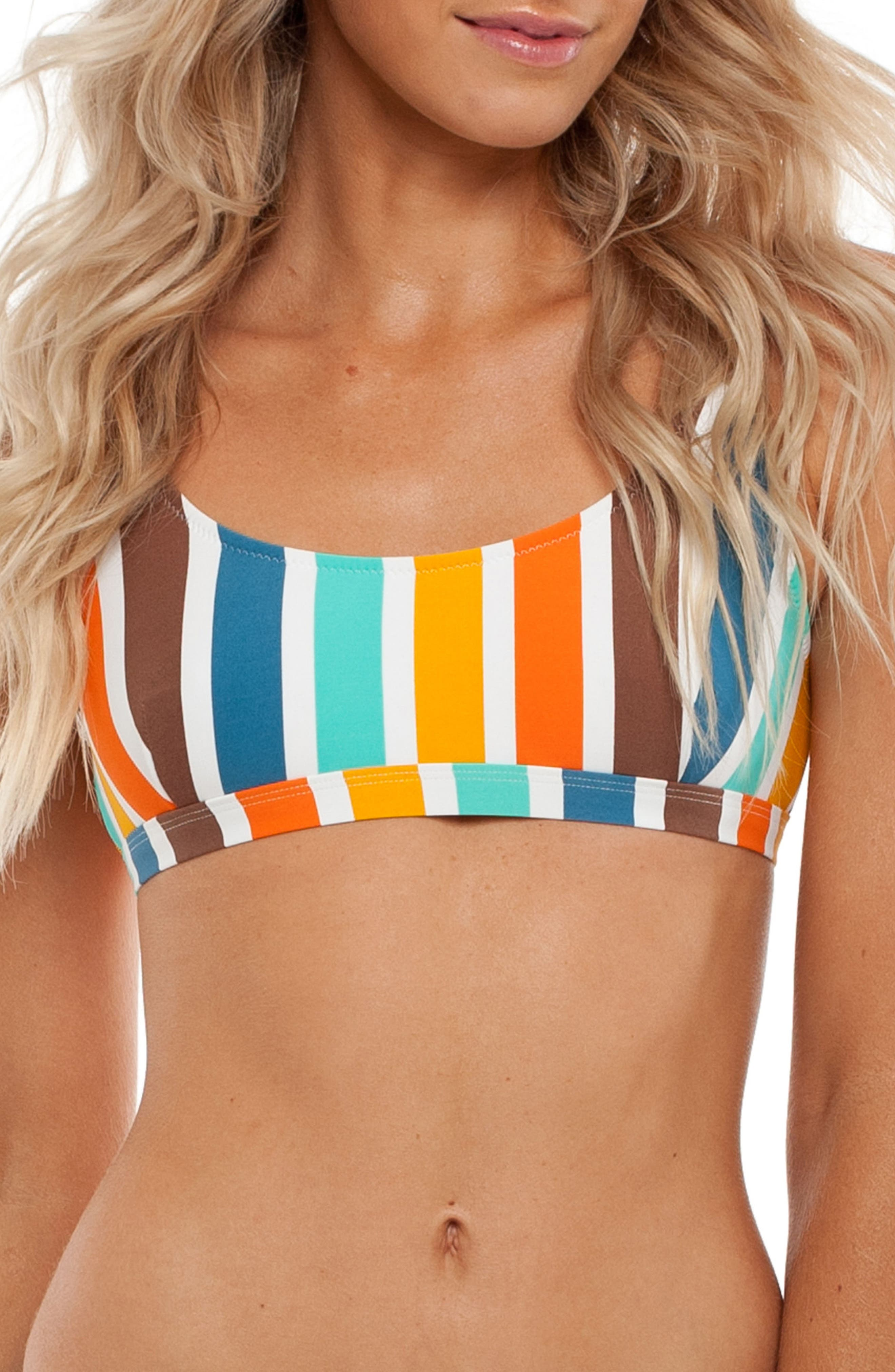 Zimbabwe Scoop Bikini Top,                         Main,                         color, Tangelo Multi