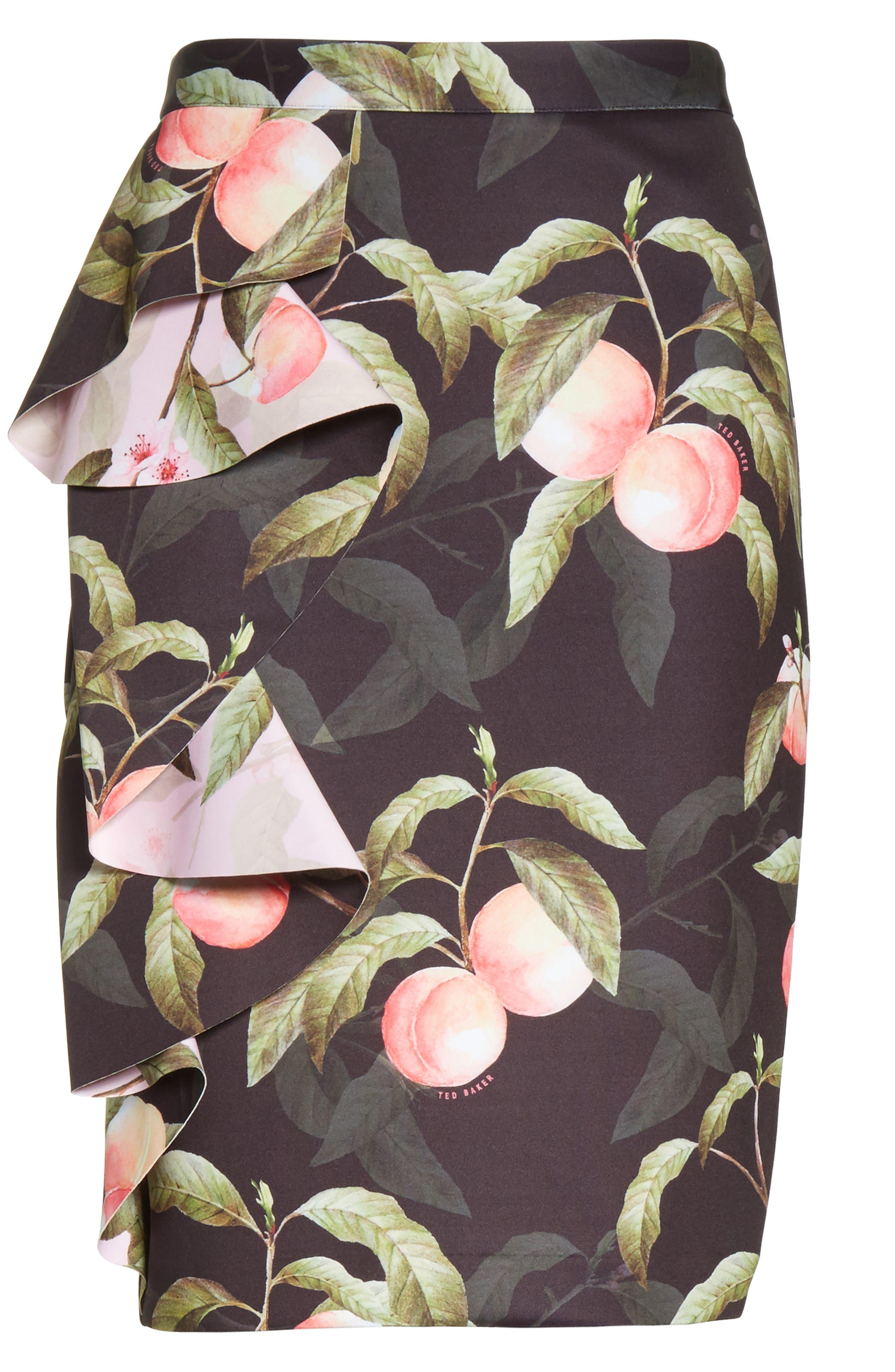 Alternate Image 6  - Ted Baker London Peaches Ruffle Pencil Skirt