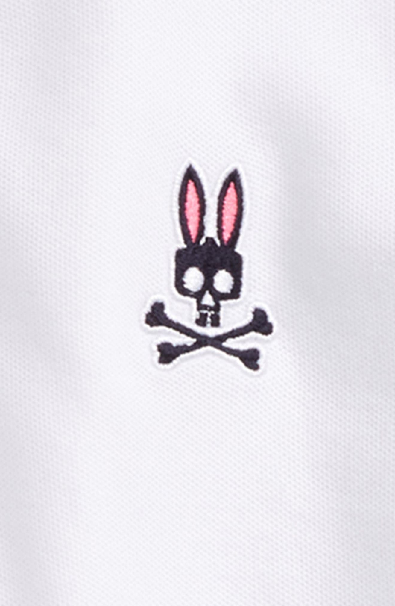 Neon Bunny Cotton Polo,                             Alternate thumbnail 2, color,                             White
