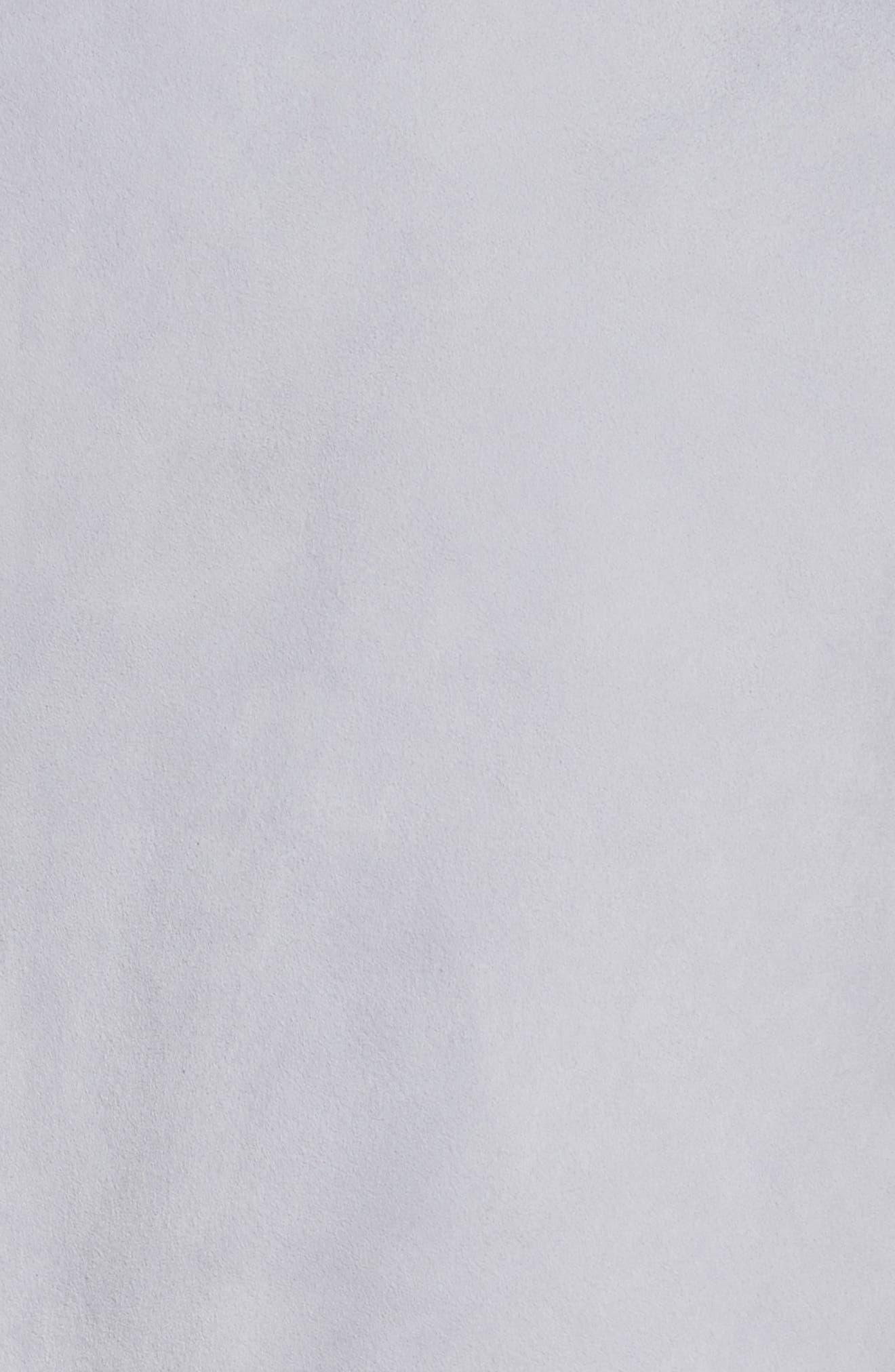 Diane von Furstenberg Patch Pocket Suede Midi Skirt,                             Alternate thumbnail 5, color,                             Smoke