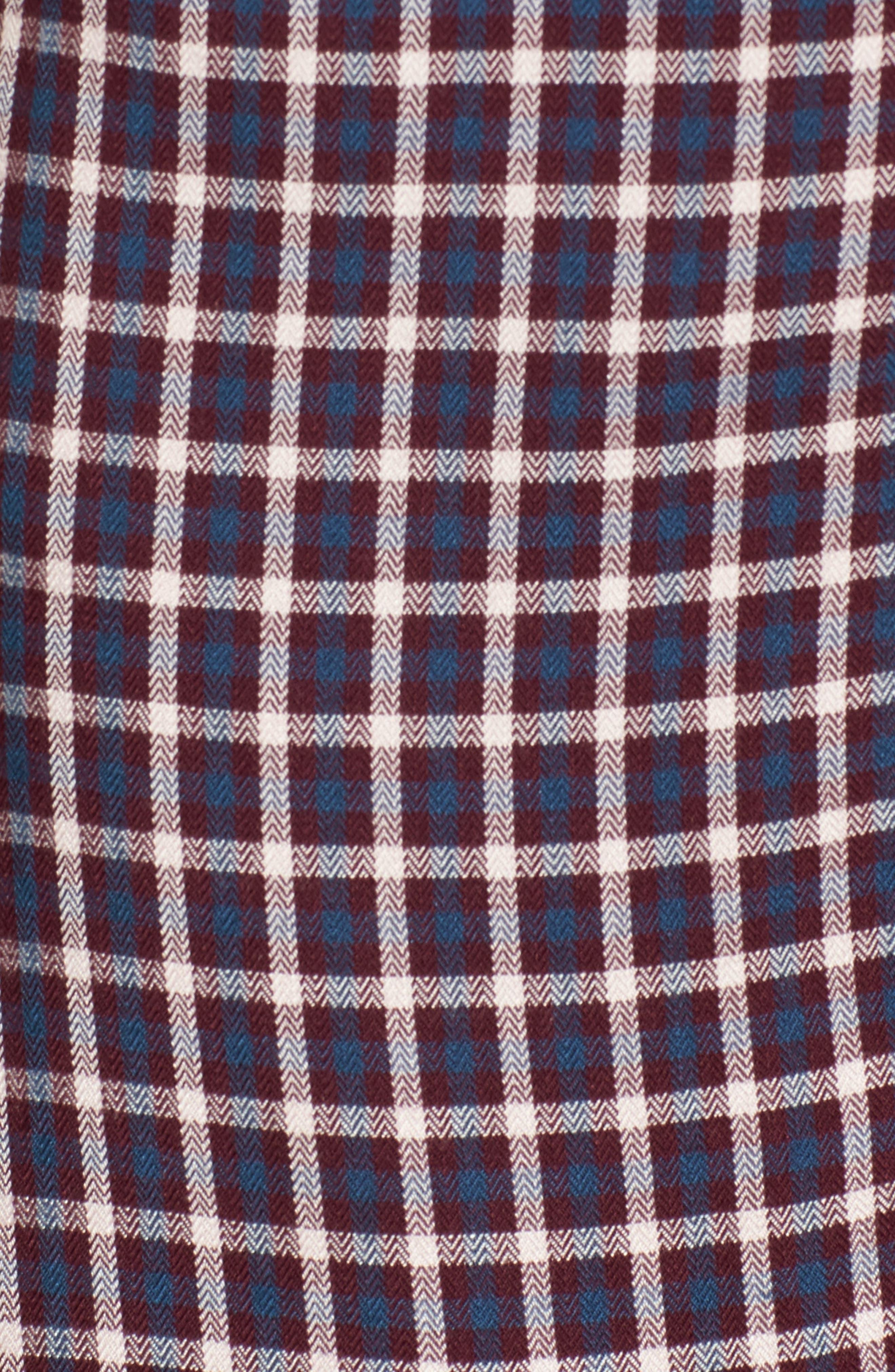 Plaid Shirtdress,                             Alternate thumbnail 5, color,                             Burgundy Fig Hound Gingham
