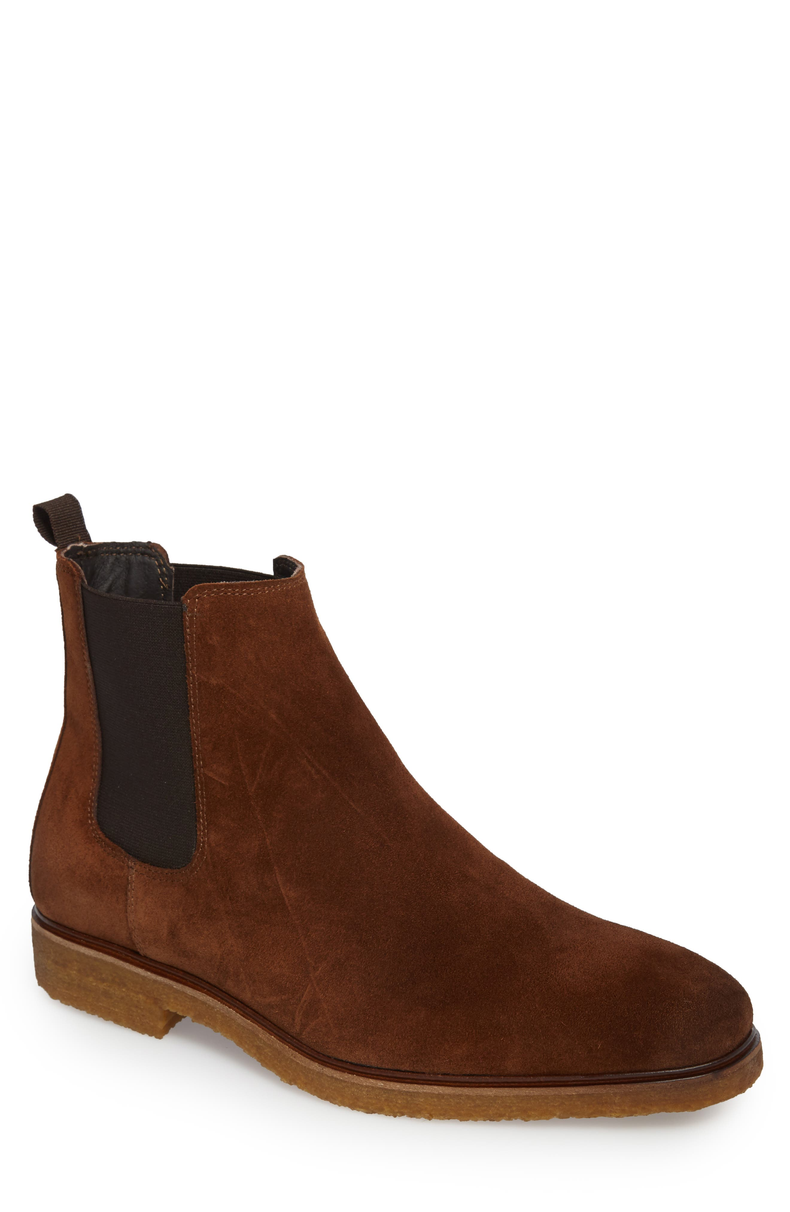 Sullivan Chelsea Boot,                         Main,                         color, Sienna Suede Leather