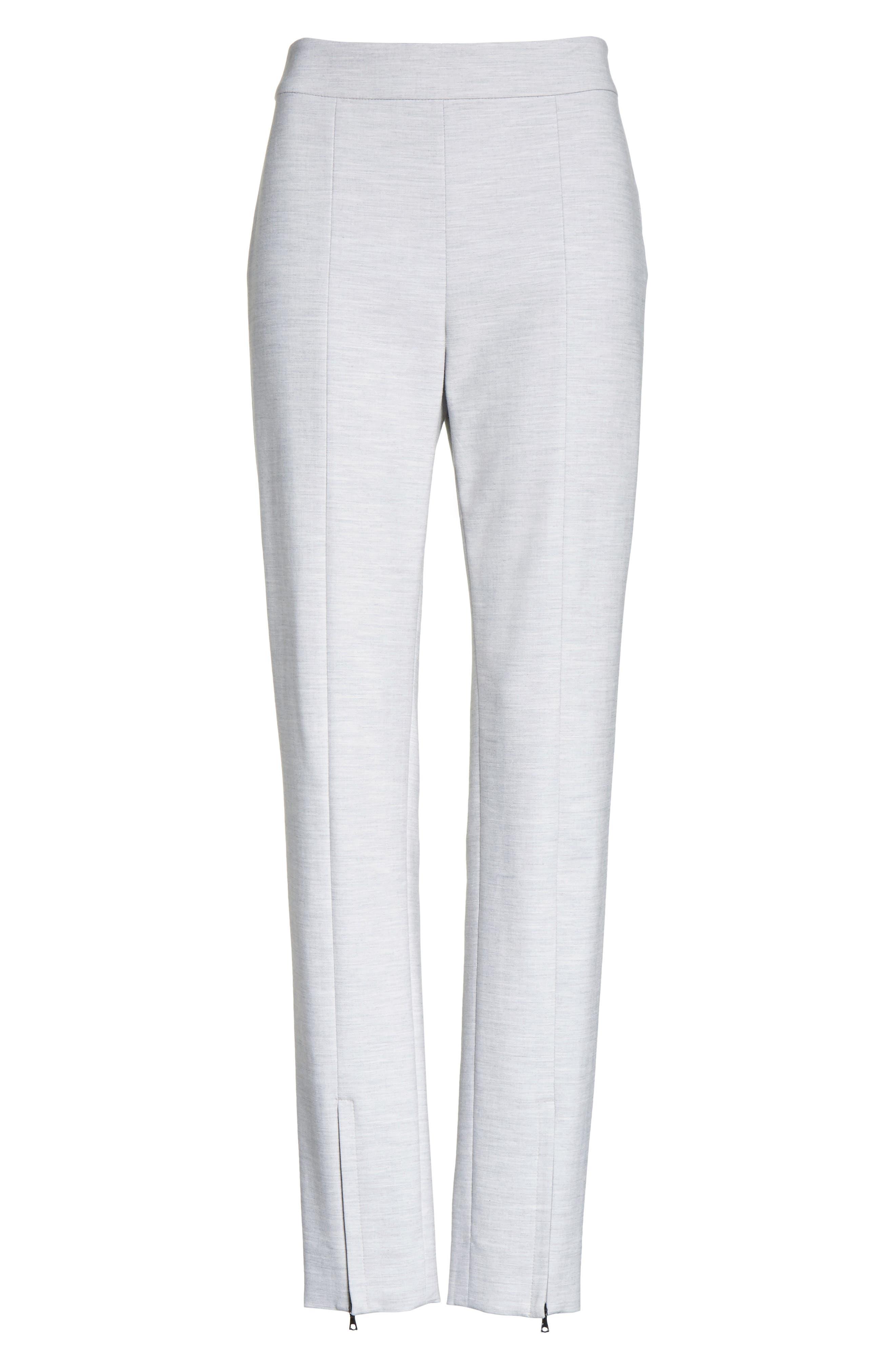 Summer Bella Double Weave Pants,                             Alternate thumbnail 11, color,                             Light Grey Melange