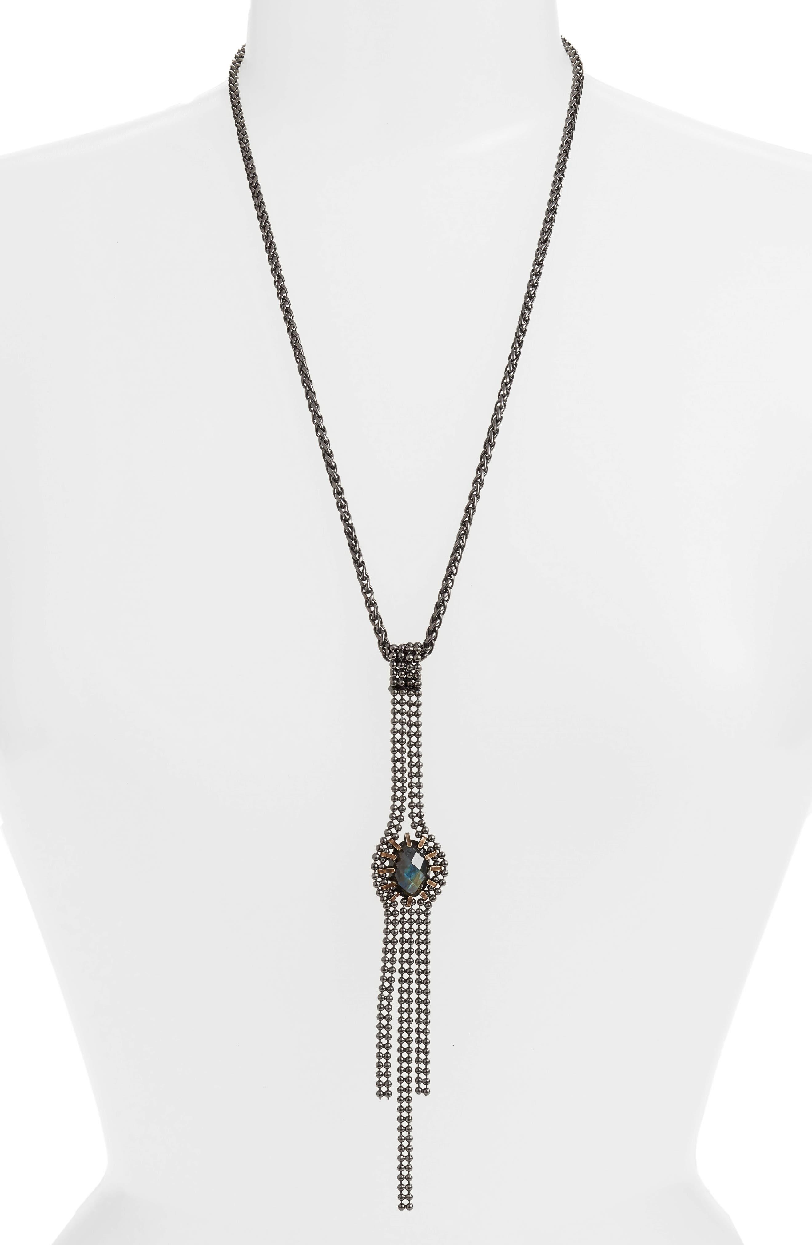 Alternate Image 1 Selected - Cynthia Desser Labradorite Pendant Necklace