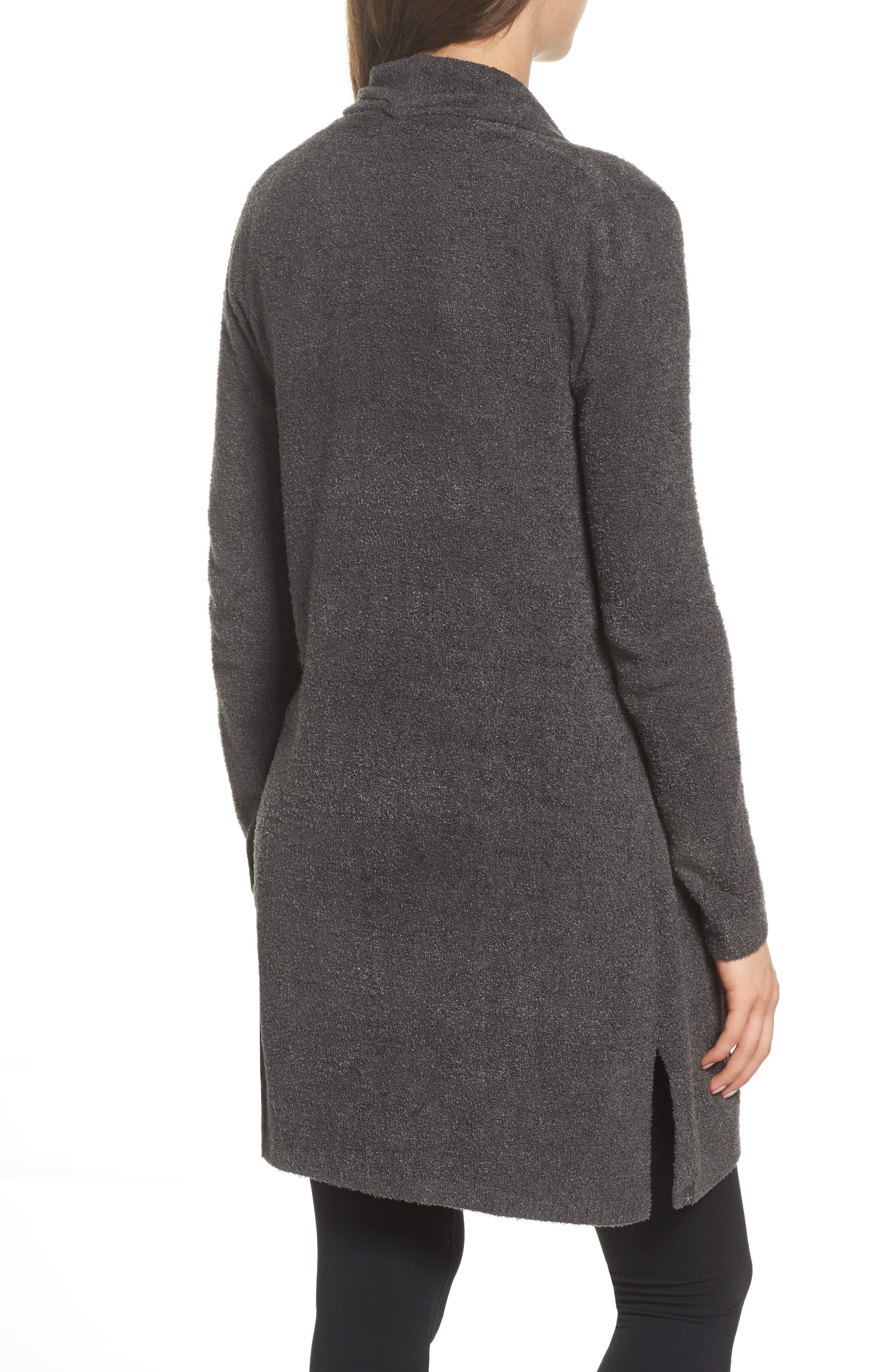 Barefoot Dreams Essential Cardigan,                             Alternate thumbnail 2, color,                             Carbon