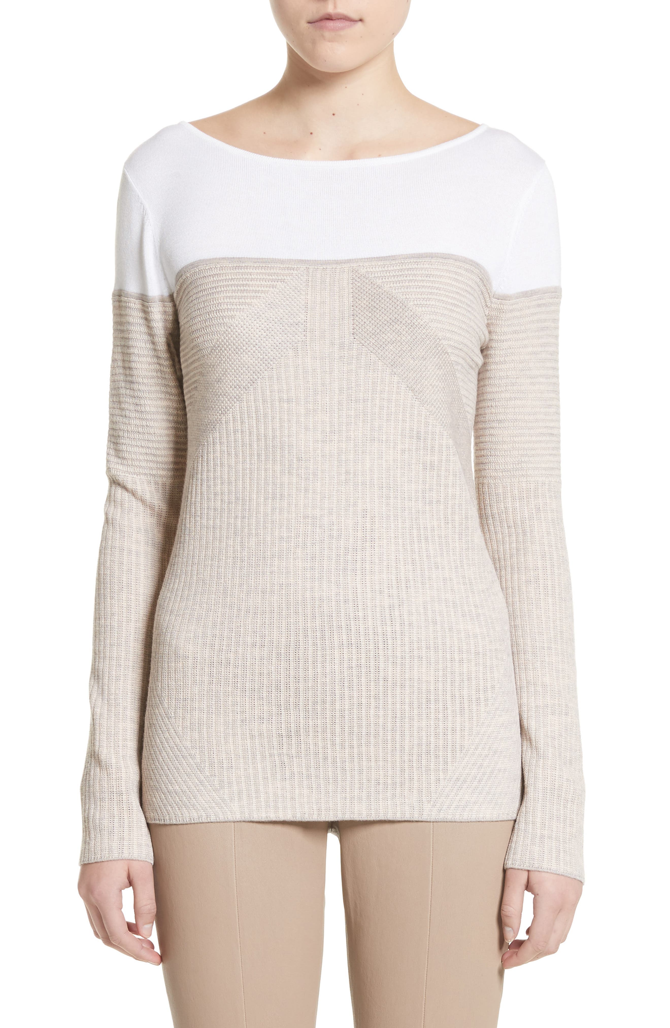Alternate Image 1 Selected - St. John Collection Tech Rib Knit Sweater