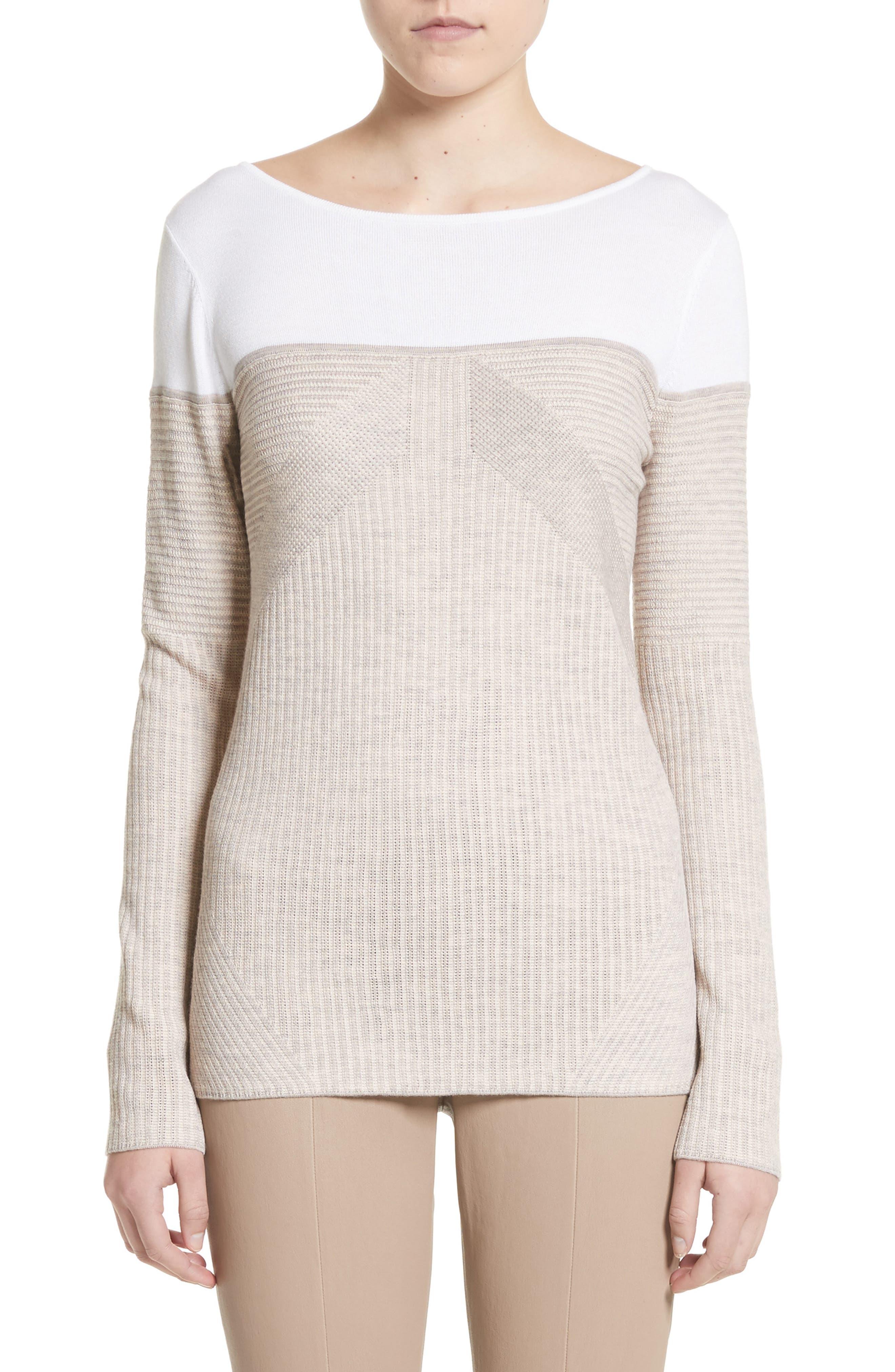 St. John Collection Tech Rib Knit Sweater