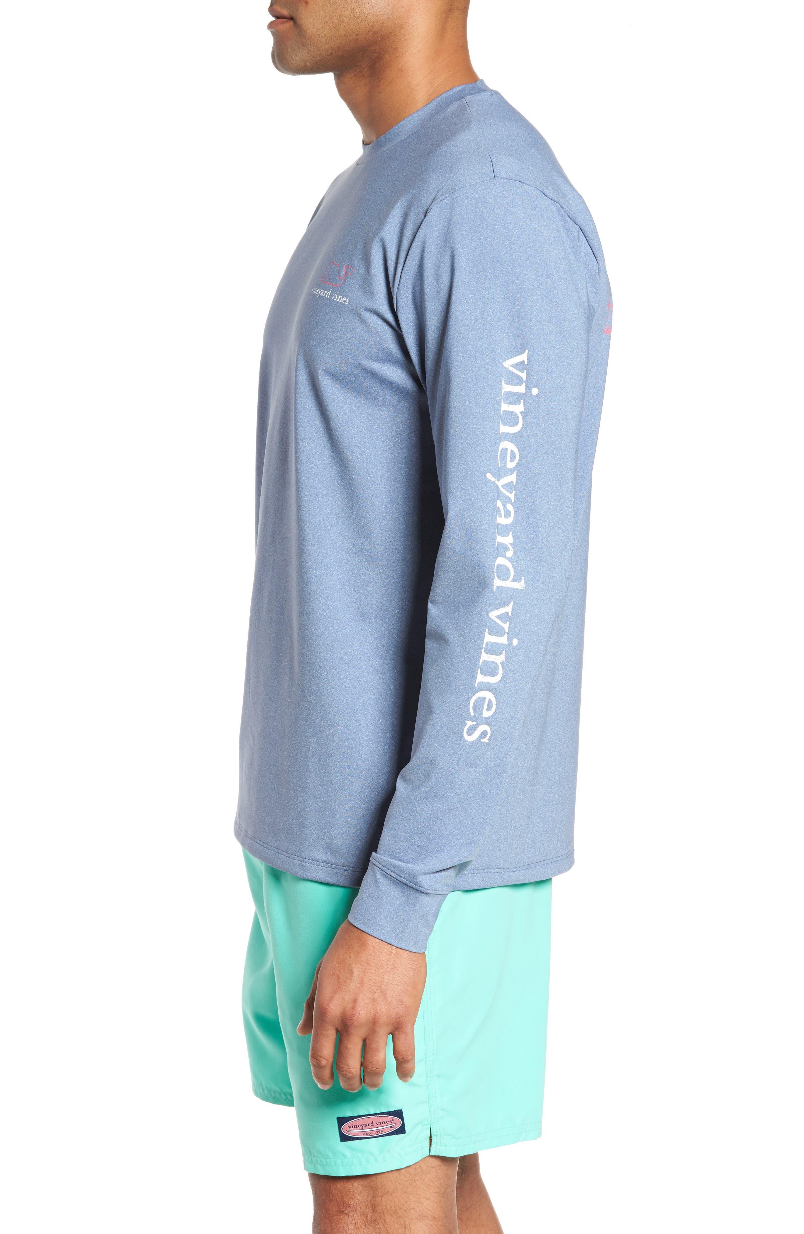 Vintage Whale Performance T-Shirt,                             Alternate thumbnail 3, color,                             Moonshine