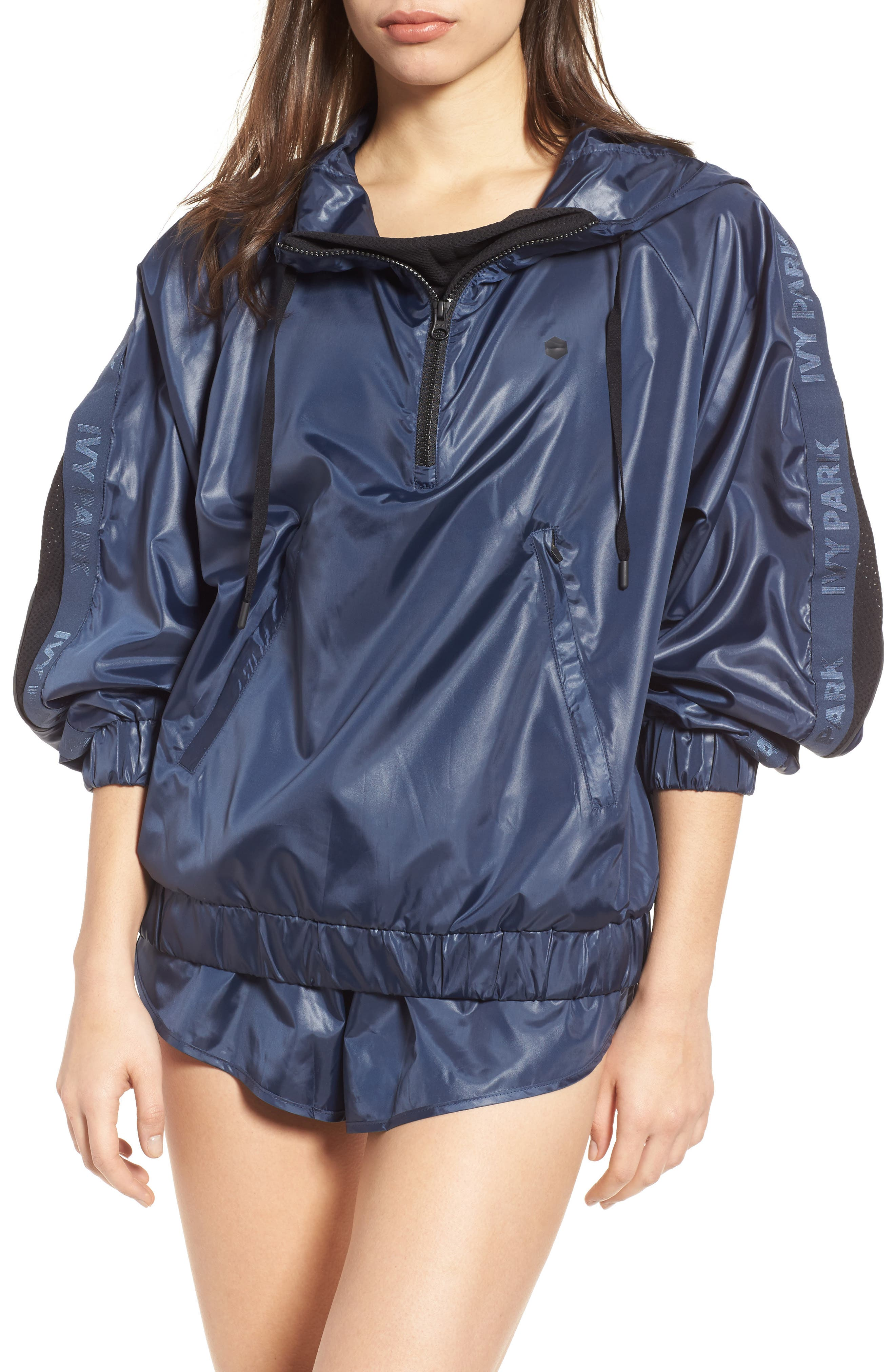 IVY PARK® Wetlook Hooded Pullover
