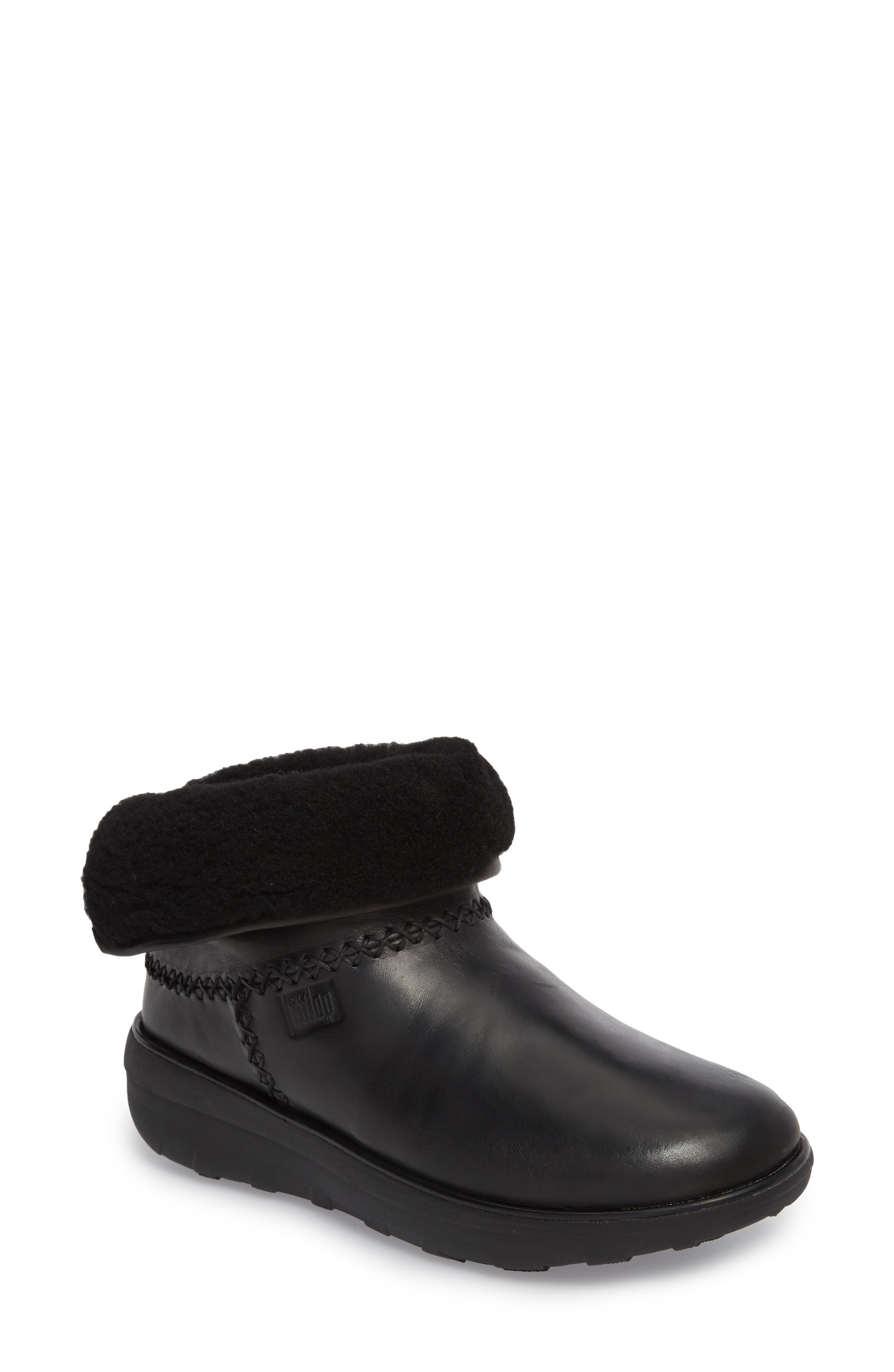 Mukluk Shorty II Boot,                             Main thumbnail 1, color,                             Black Leather