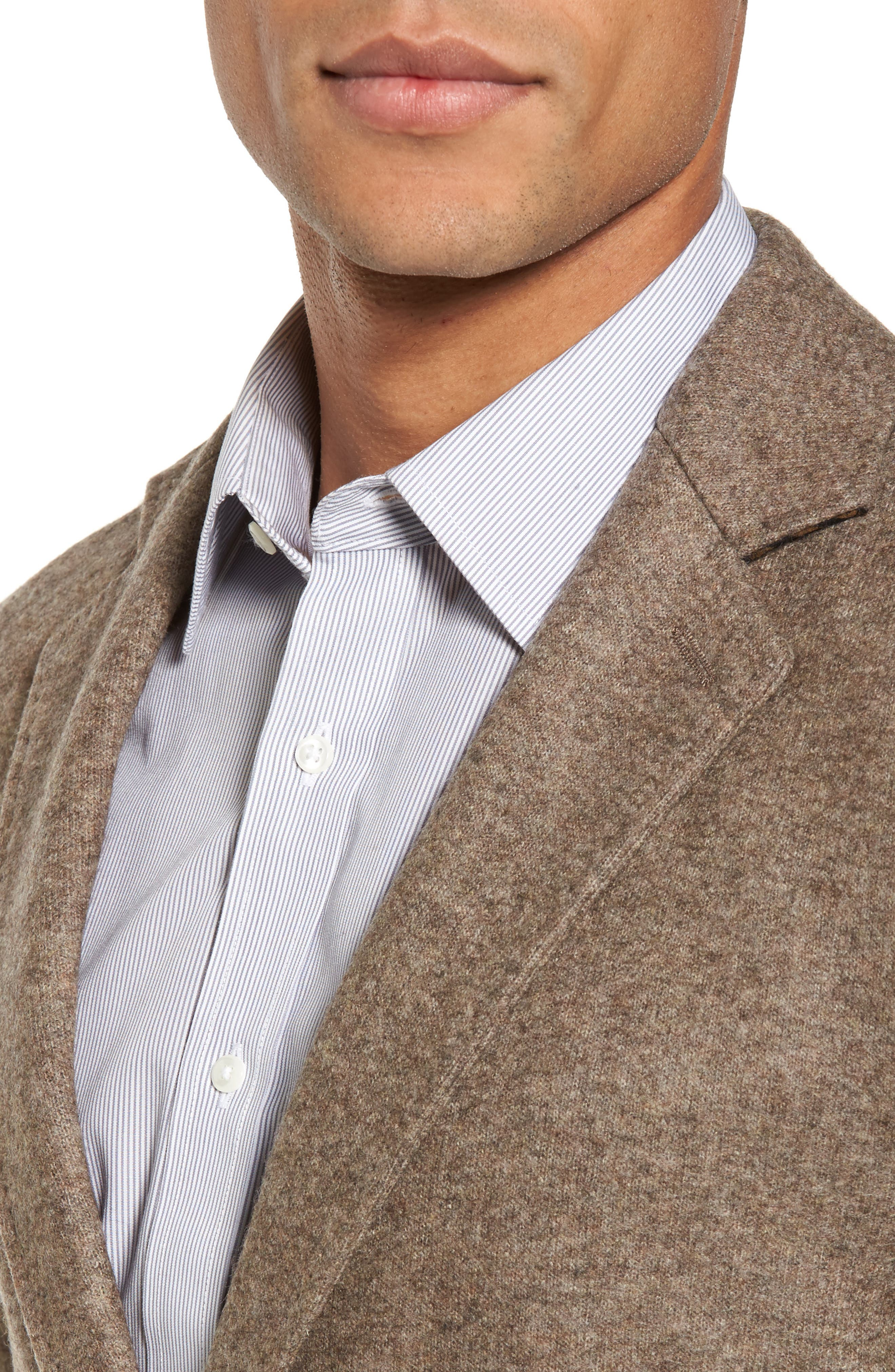 Dylan Knit Wool Blend Sport Coat,                             Alternate thumbnail 4, color,                             Taupe